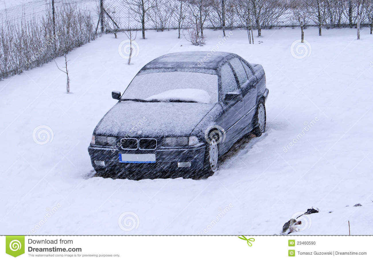Car Covered In Snow : Snow covered car stock photo image of heavy outdoors