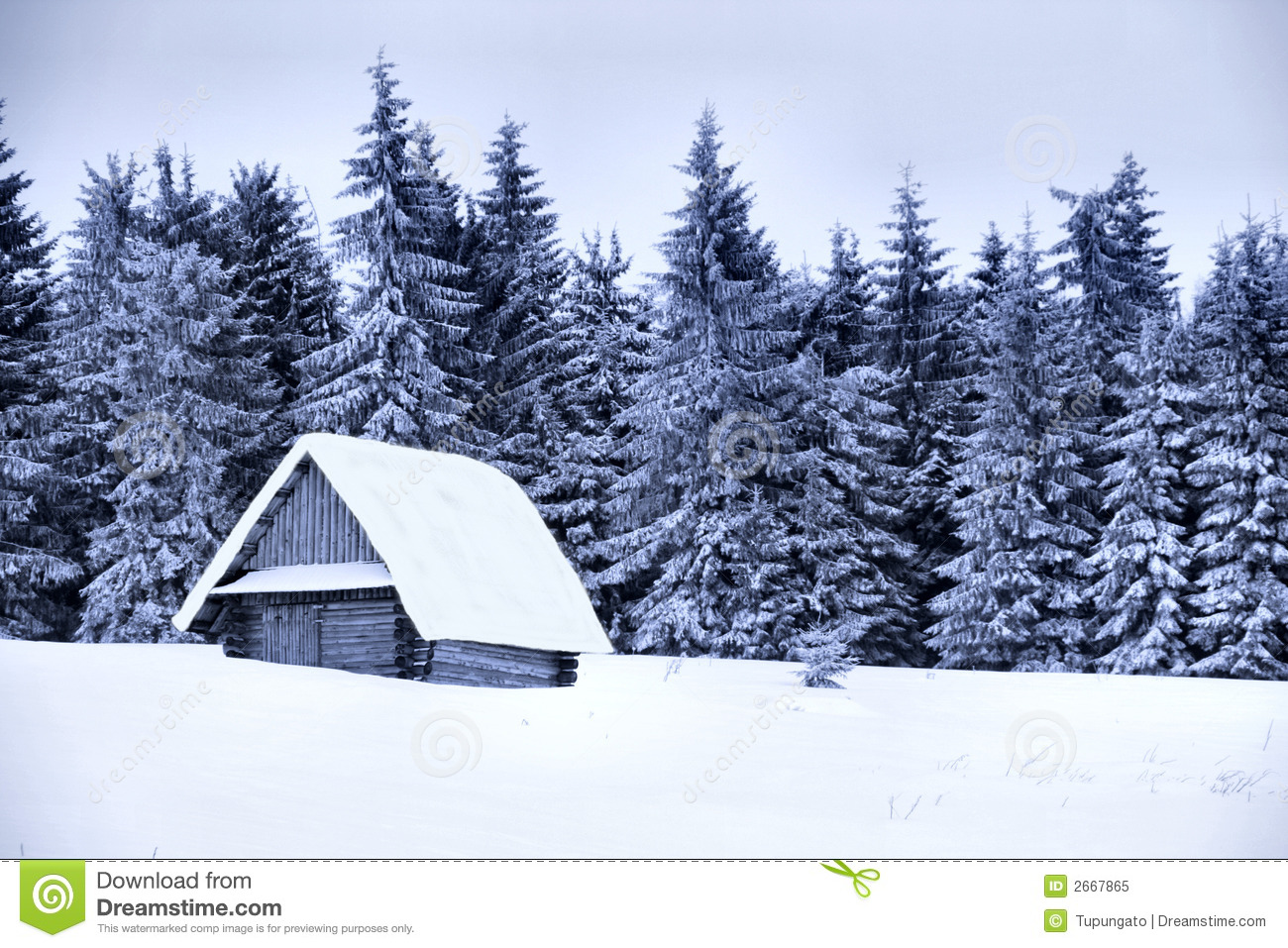 Snow Covered Cottage At Dusk Quebec Canada Stock Photo | Getty Images