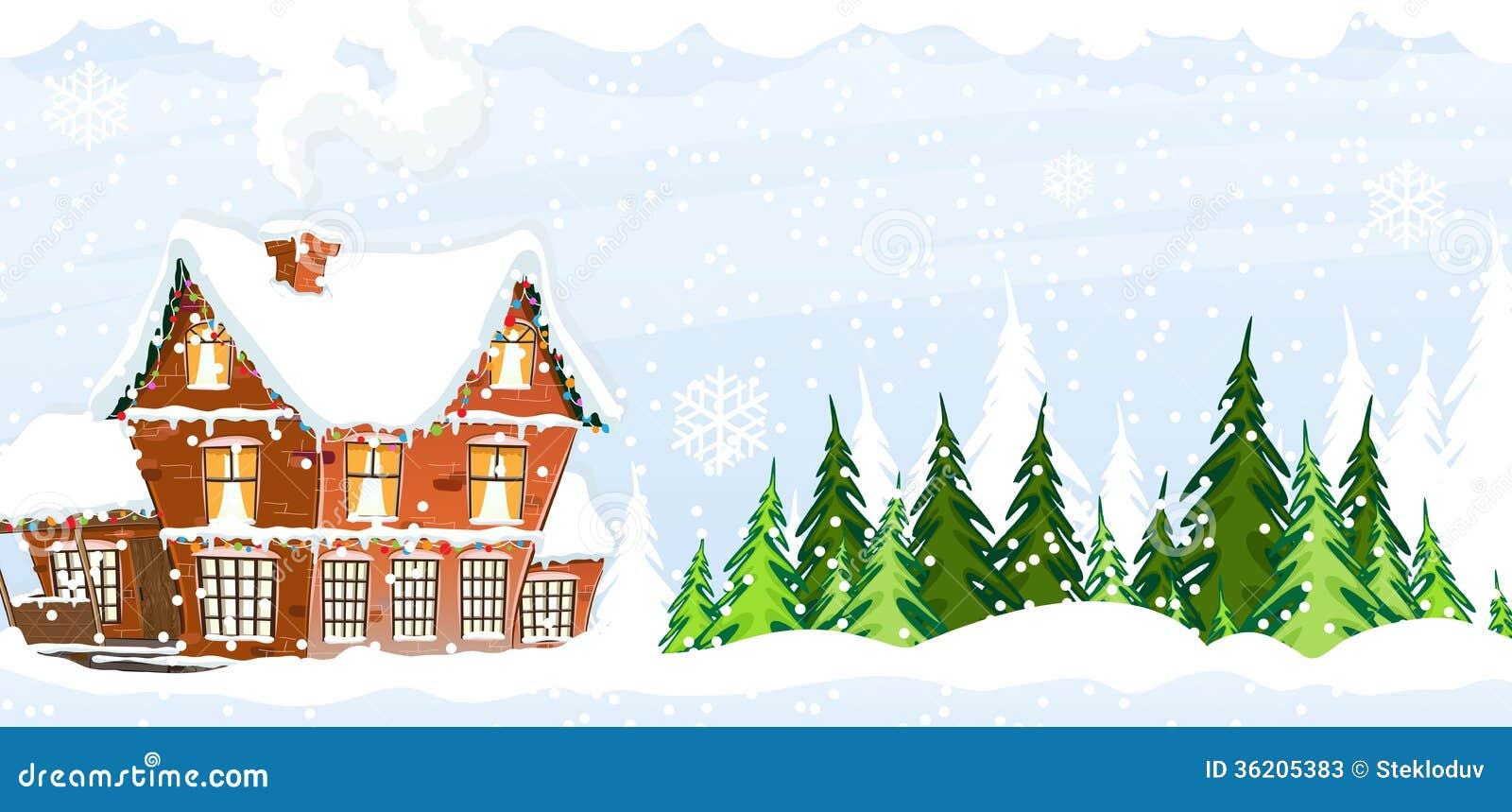 Snow covered Farmhouse Stock Photos Image 36205383
