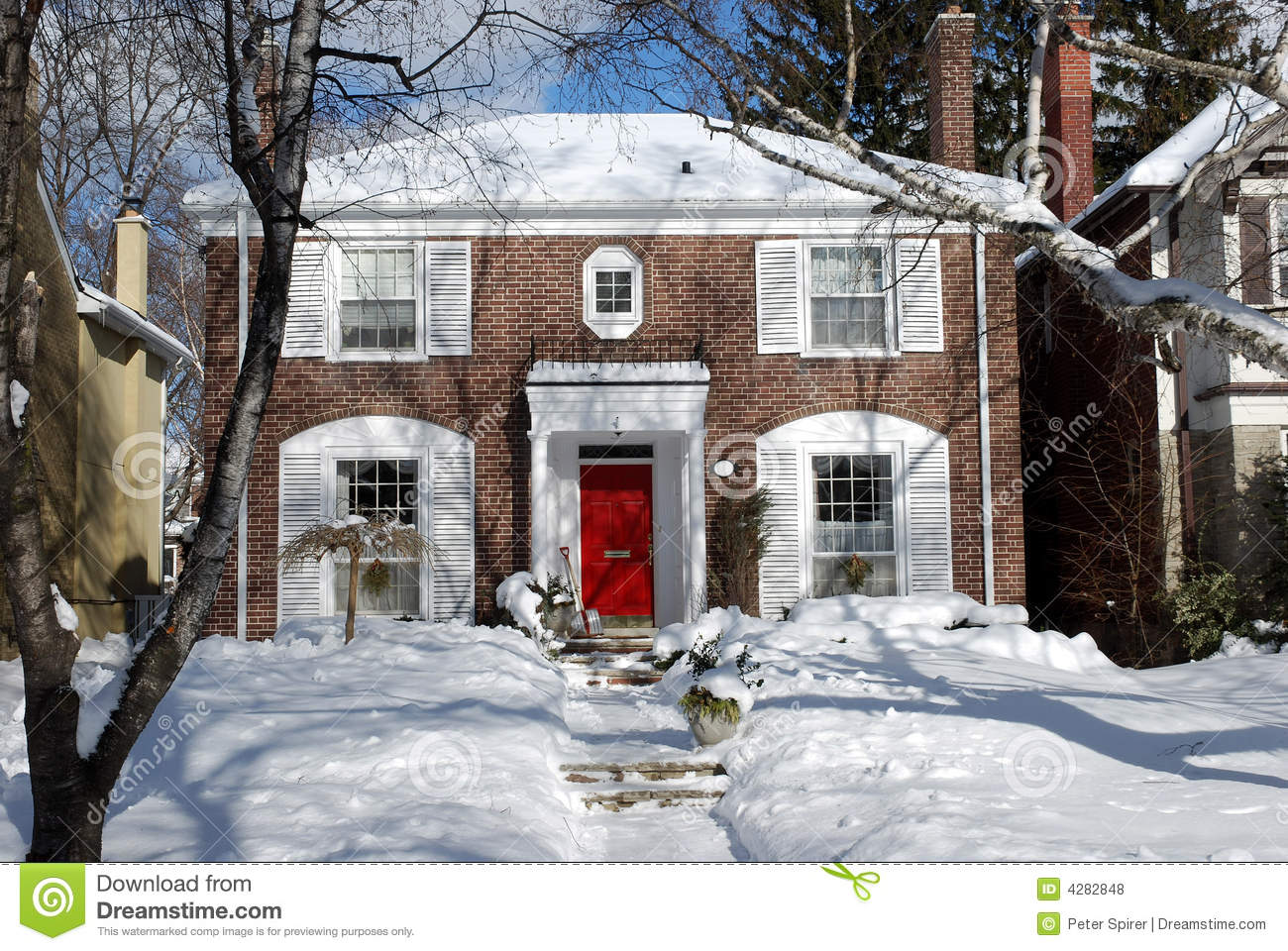 snow covered house - photo #13