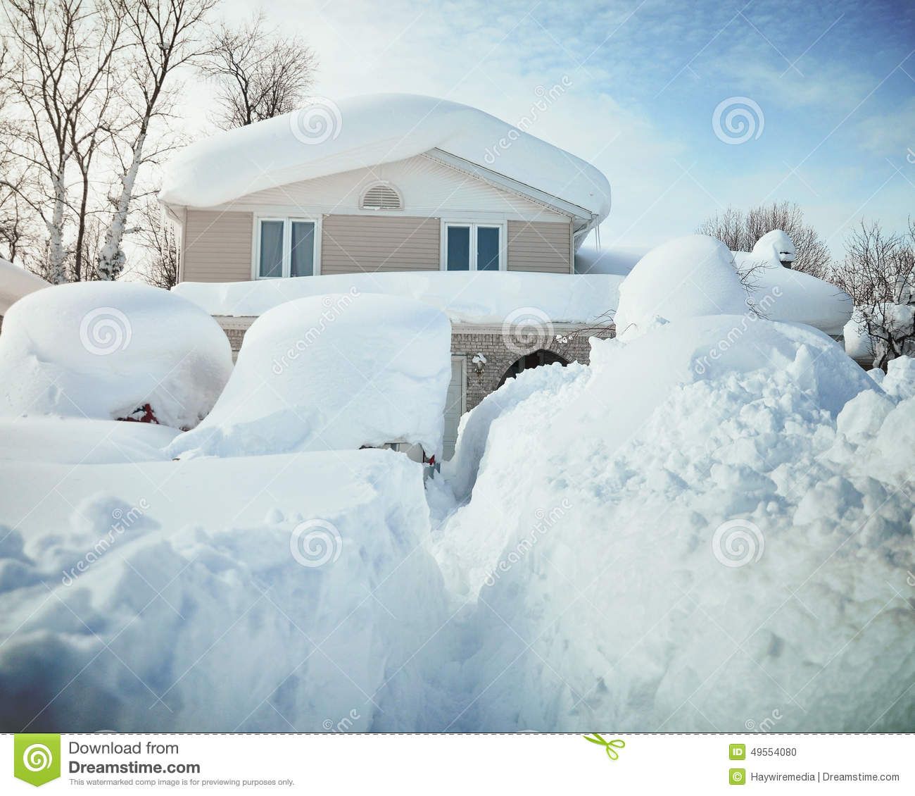 snow covered house - photo #41
