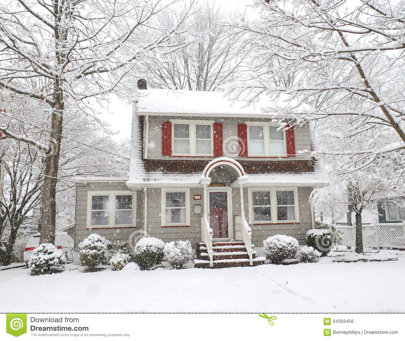snow covered house - photo #34