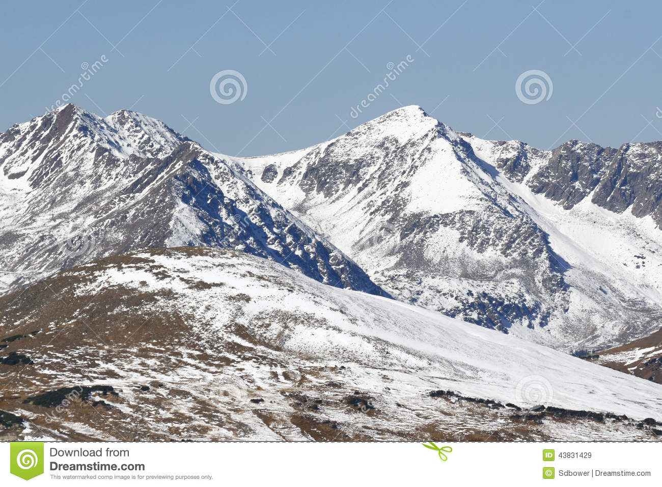 Snow Covered Mountains of Rocky Mountain National Park