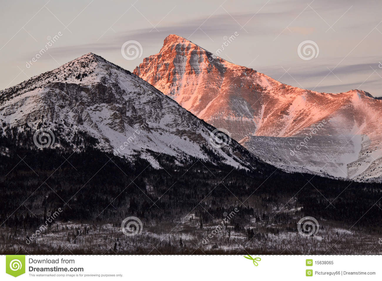 Rocky mountains in winter alberta canada