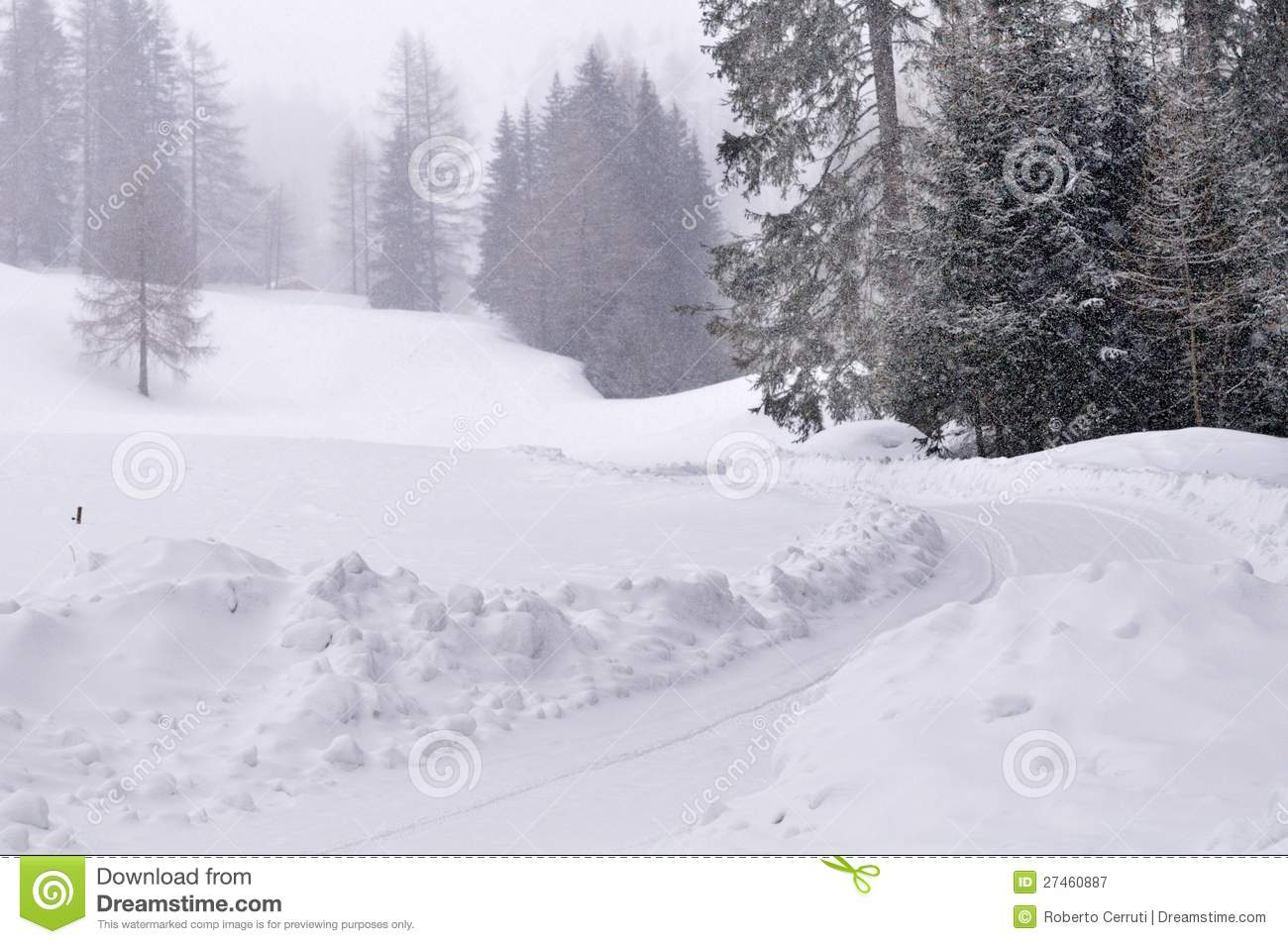 Car track under deep snow stock photography for Best deep house tracks of all time