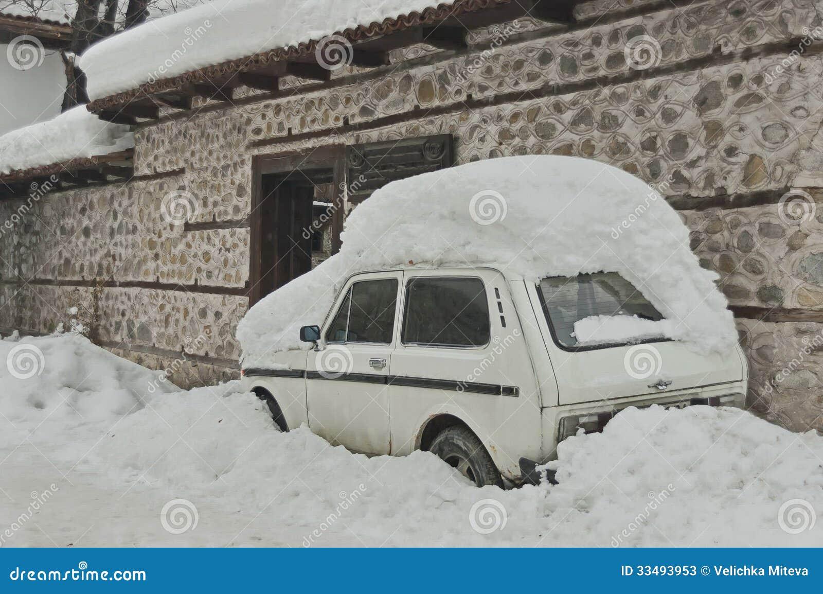 Snow Drift Granite : Snow drift cover front door stock image of