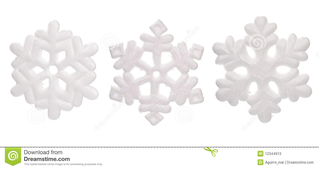 Download Snow Flake Ornaments stock image. Image of shiny, cold - 12344913