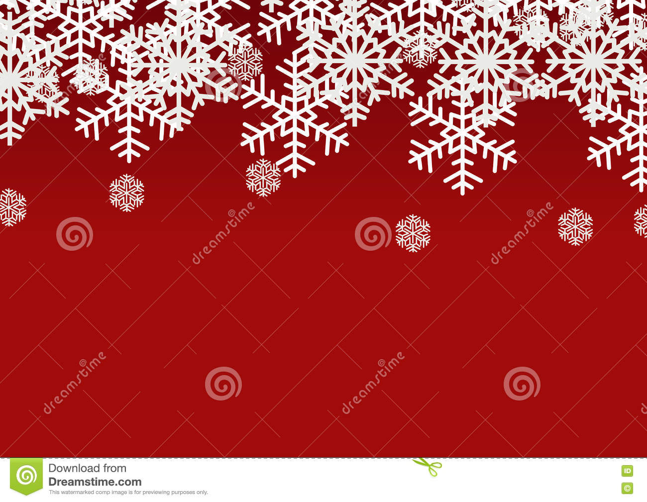 Snow Flake On Red Background; Christmas Season Holiday Template ...