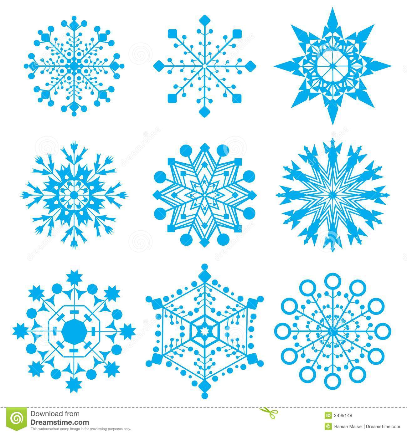 ... set of blue snow-flakesThere is in addition a vector format (EPS 8