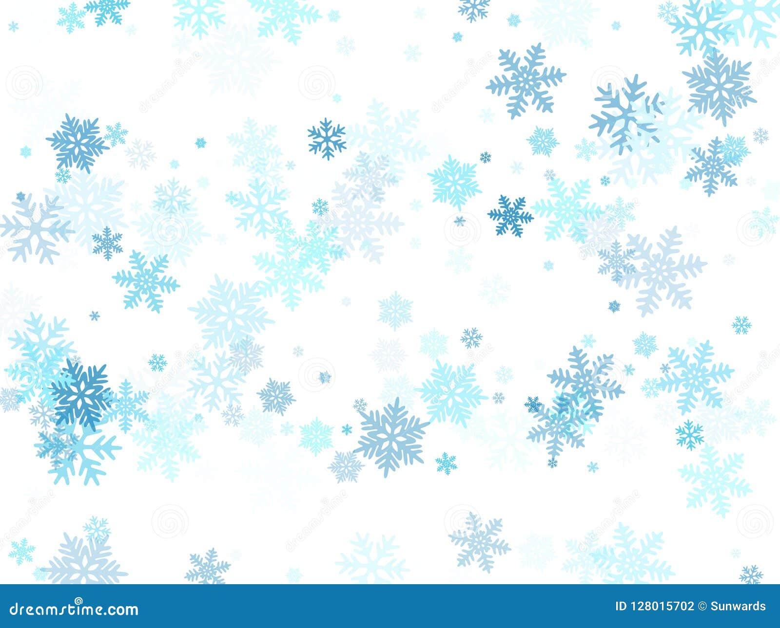 Christmas Snowflakes.Snow Flakes Falling Macro Vector Graphics Christmas