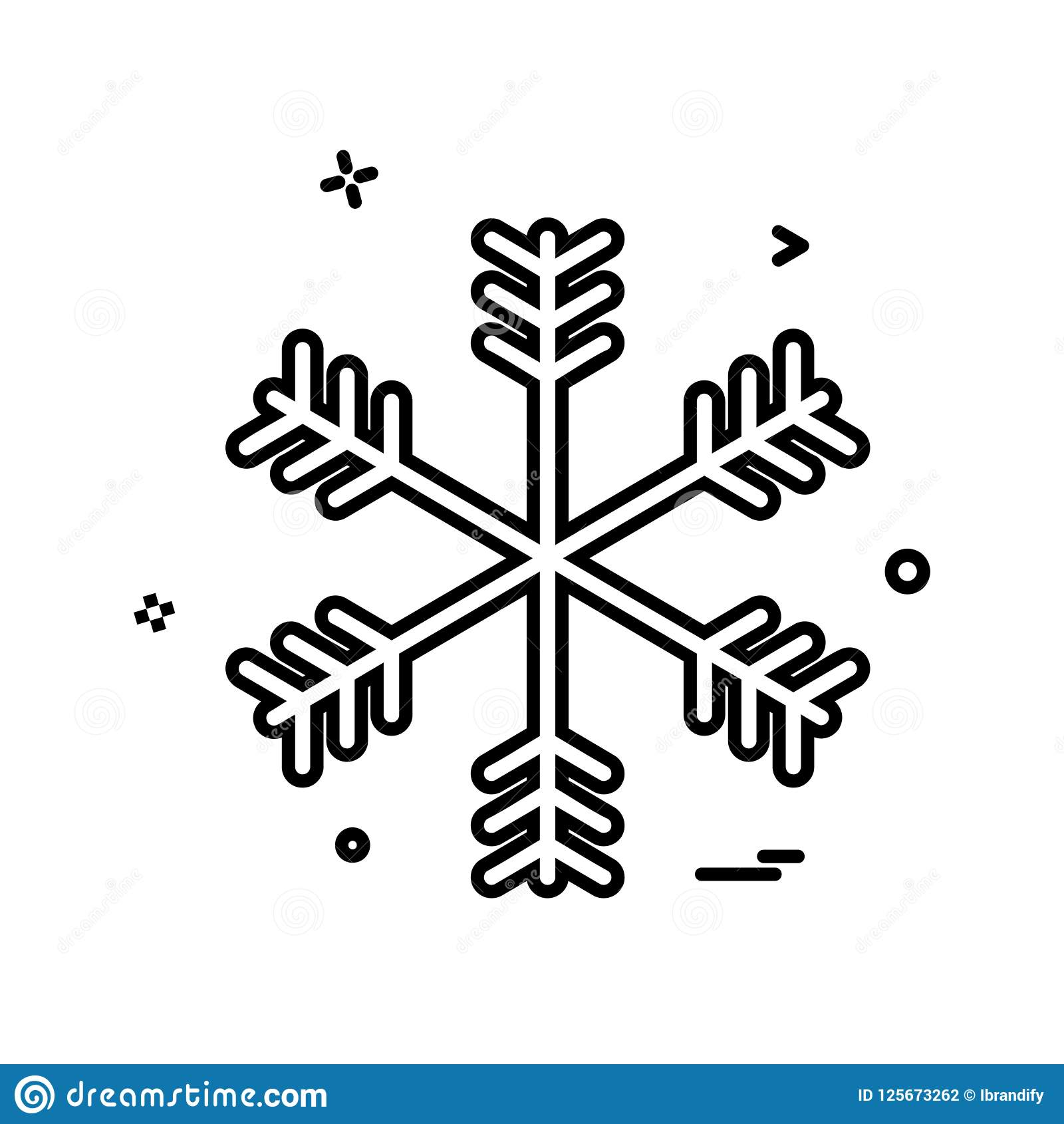 Snow flakes icon design. This Vector EPS 10 illustration is best for print media, web design, application design user interface and infographics with well Stock Illustration