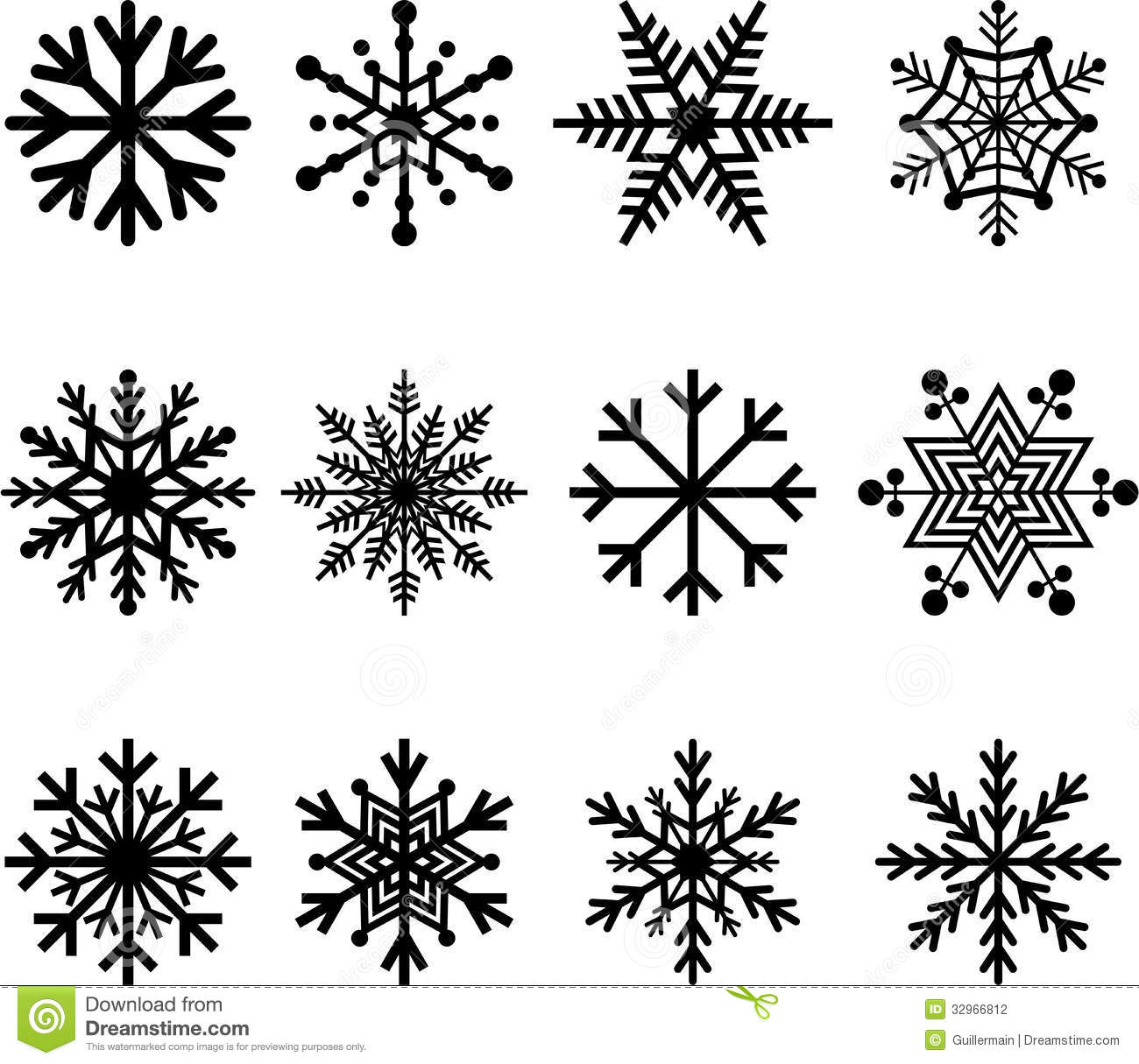 Snow Flakes Stock Photography Image 32966812