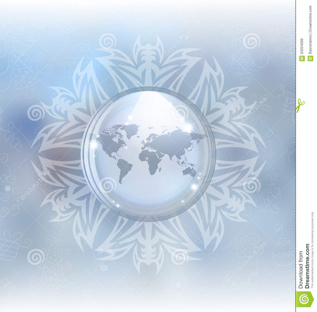 Snow globe with map stock vector illustration of frost 63204099 snow globe with map gumiabroncs Gallery