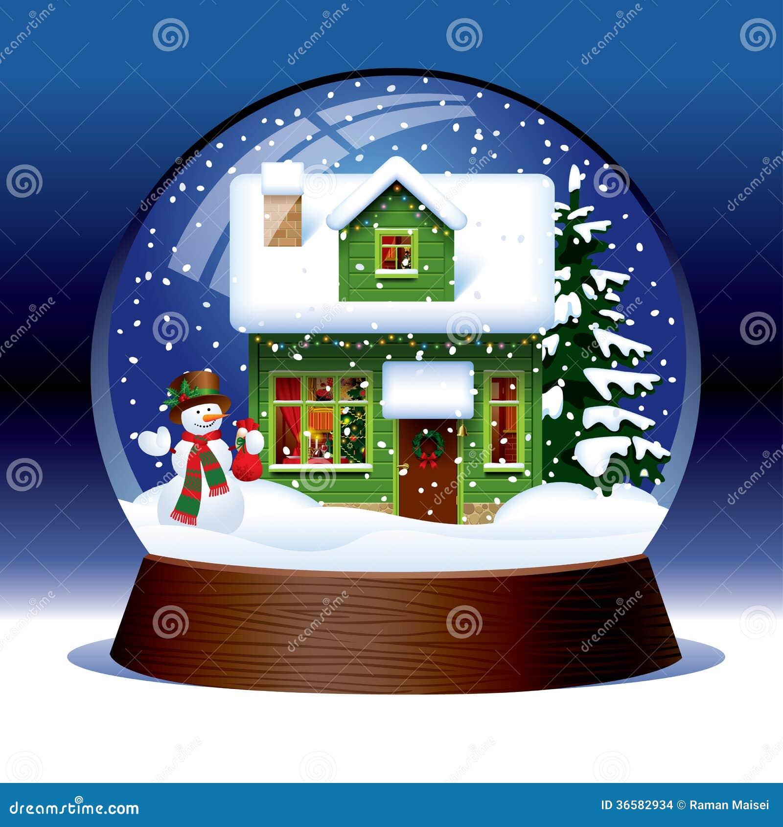 Snow Globe Stock Vector. Illustration Of Card, Wooden