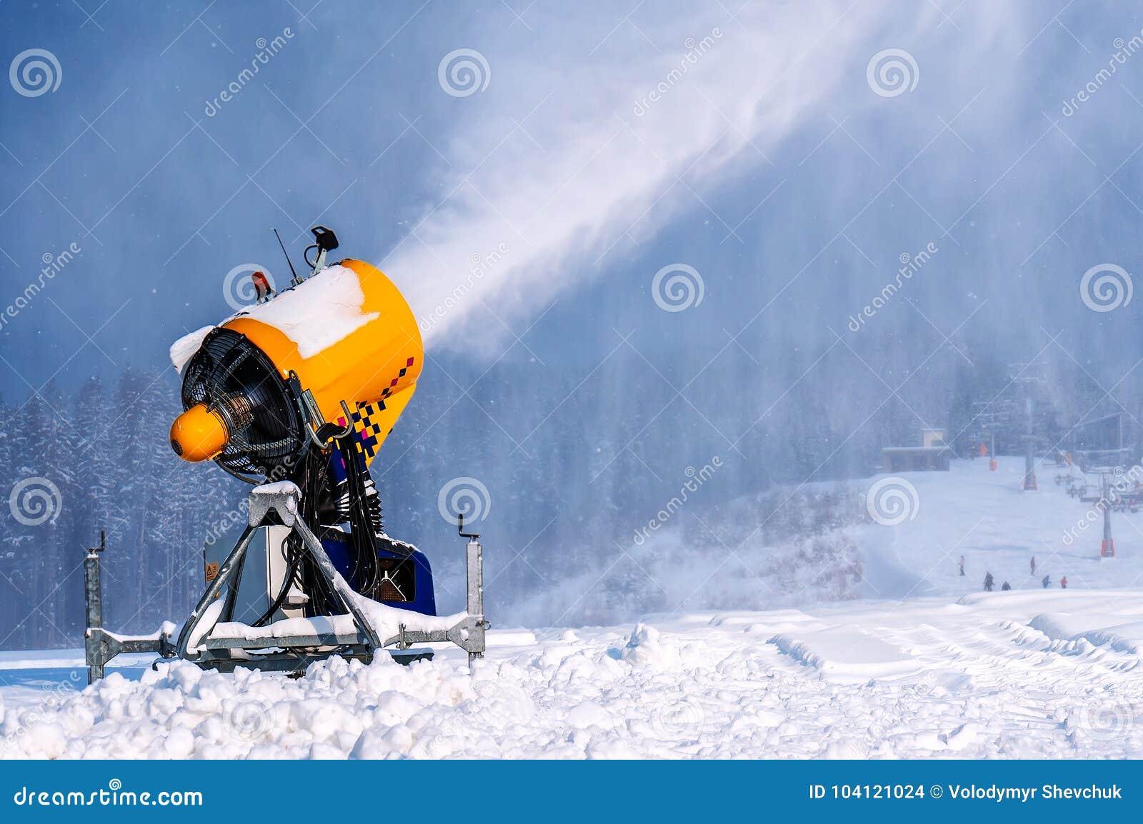 snow gun, ski resort stock photo. image of activity - 104121024
