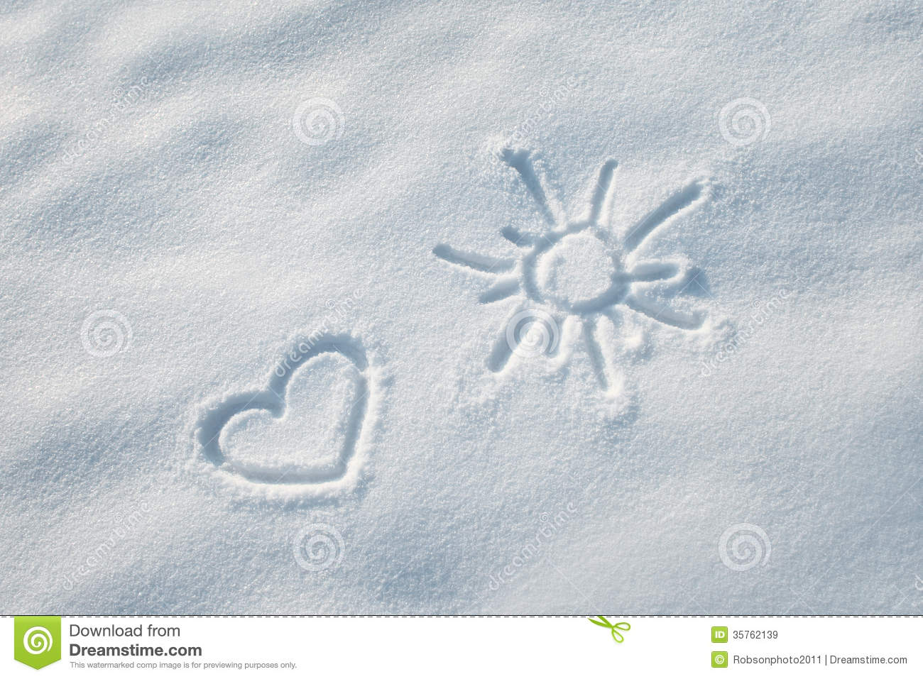 Snow Heart Shape Royalty Free Stock Images Image 35762139
