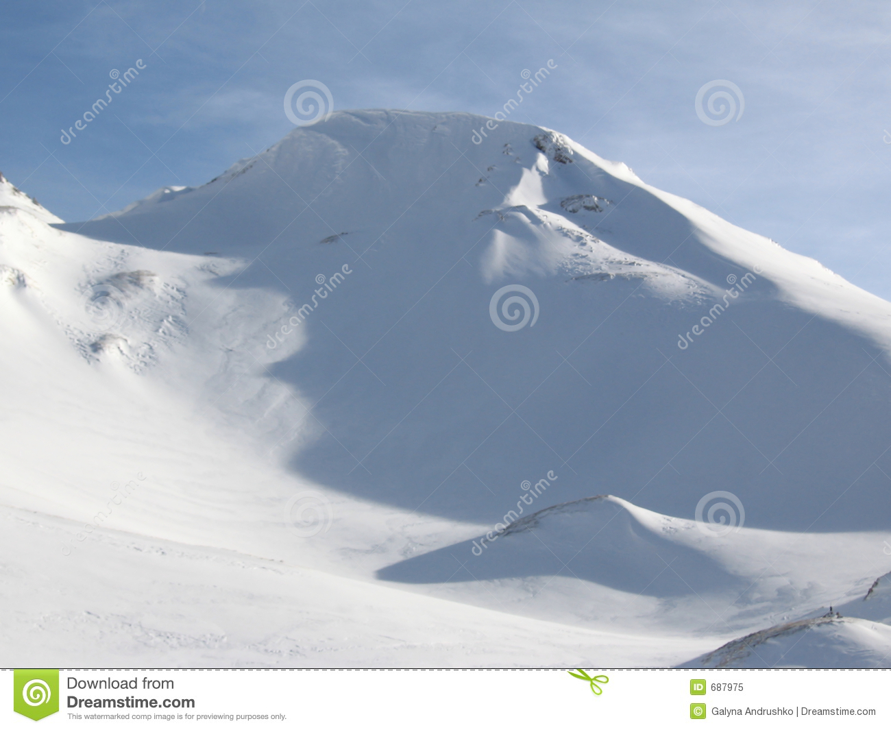 Snow hill royalty free stock photo image 687975