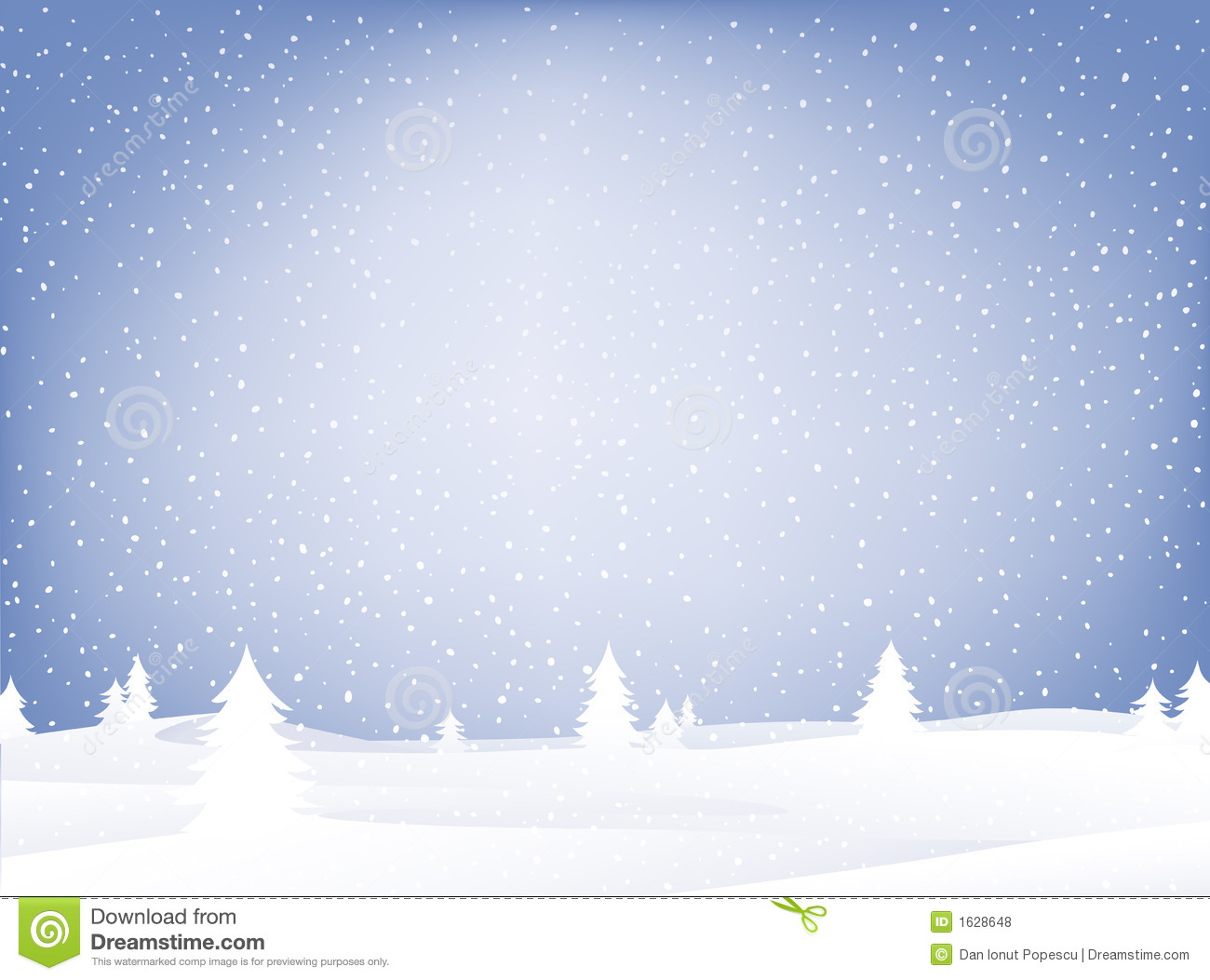 Snow Landscape Royalty Free Stock Photos - Image: 1628648