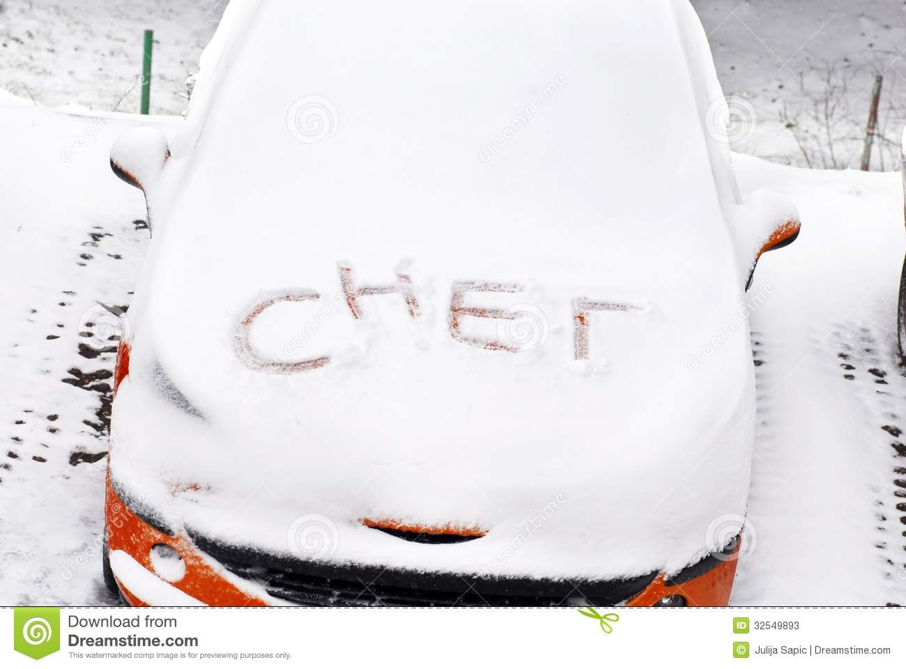 Snow letters written on car stock image image of drive letter snow letters written on car madrichimfo Images