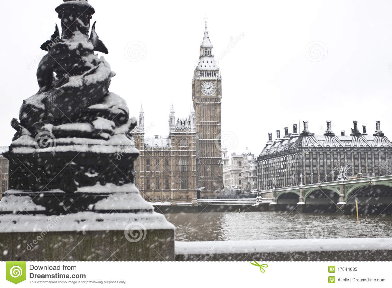 Snow In London Royalty Free Stock Image