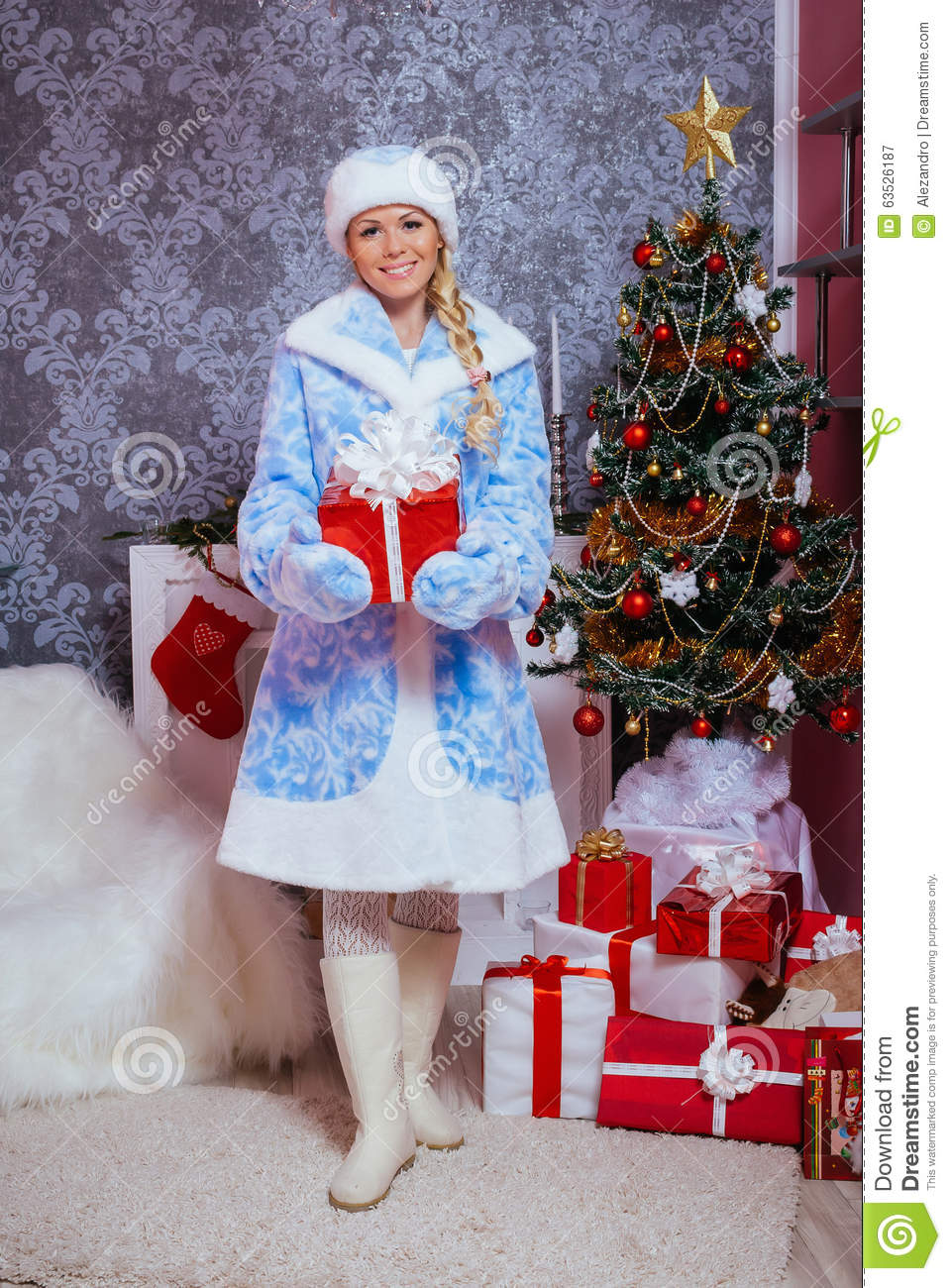Christmas Tree With Gifts Clipart