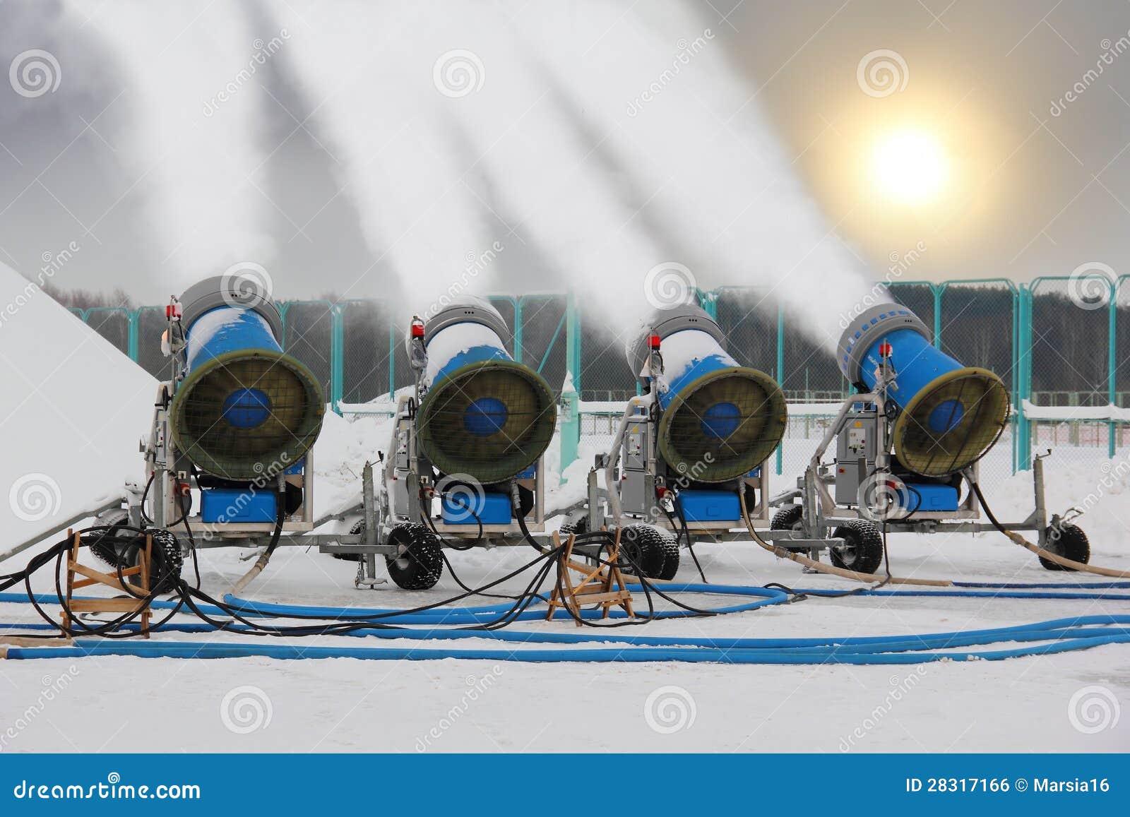 Snow Making Guns Royalty Free Stock Image Image 28317166