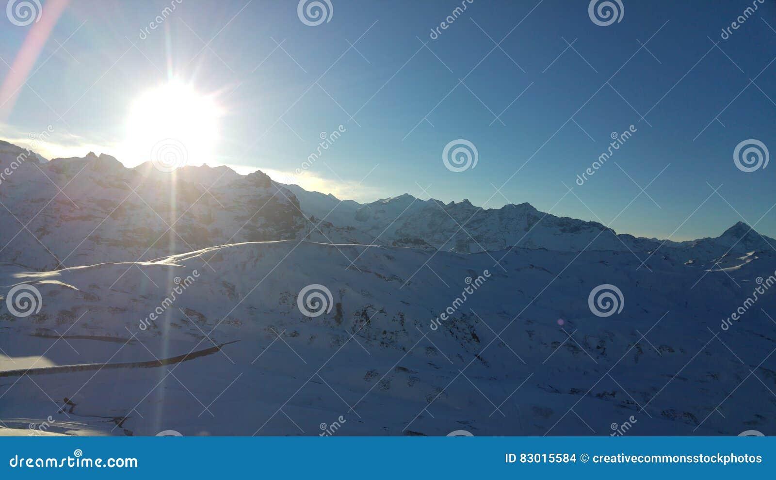 Download Snow Mountain stock photo. Image of snow, photo, stock - 83015584
