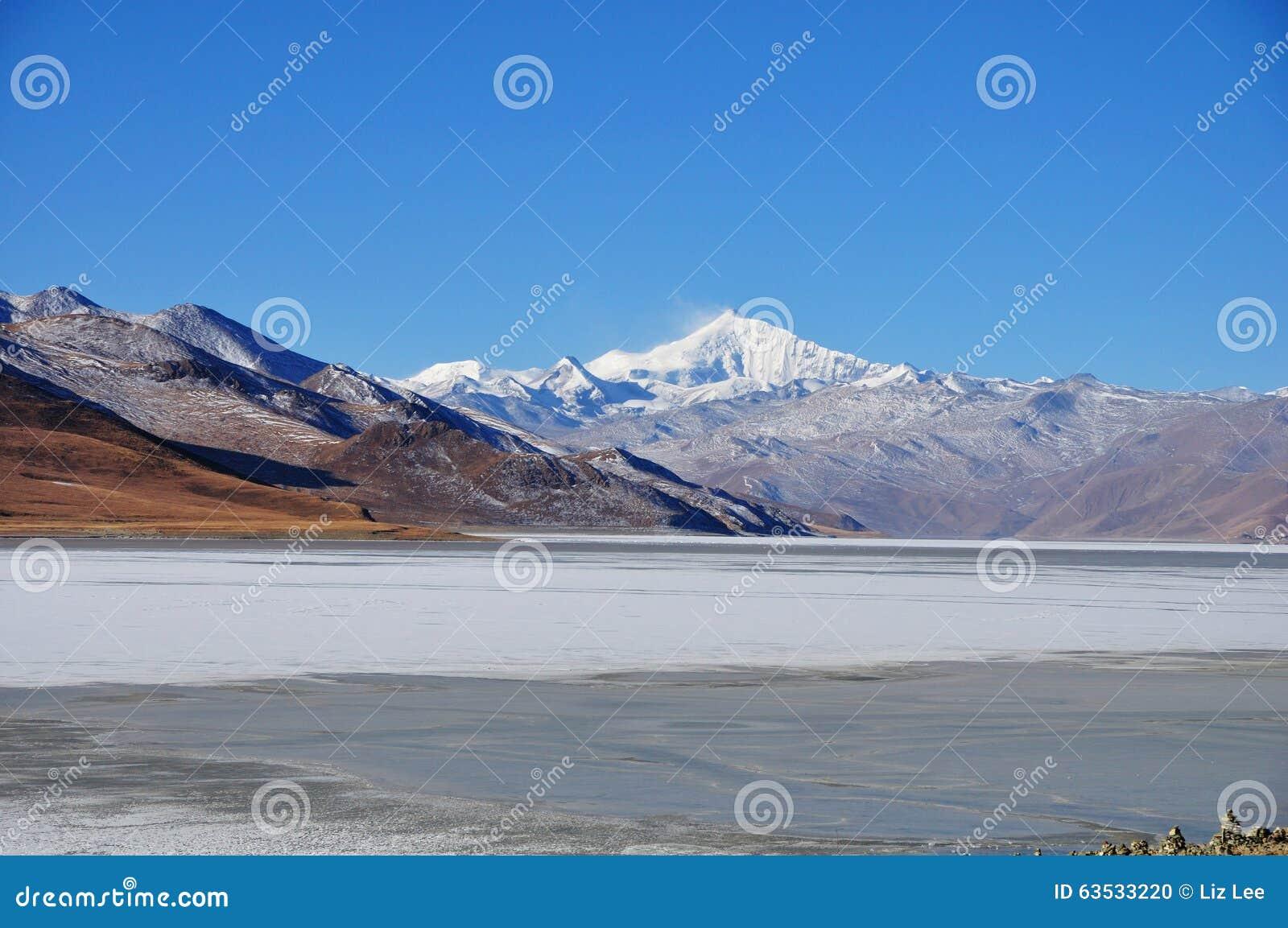 Snow Mountain and Frozen Lake