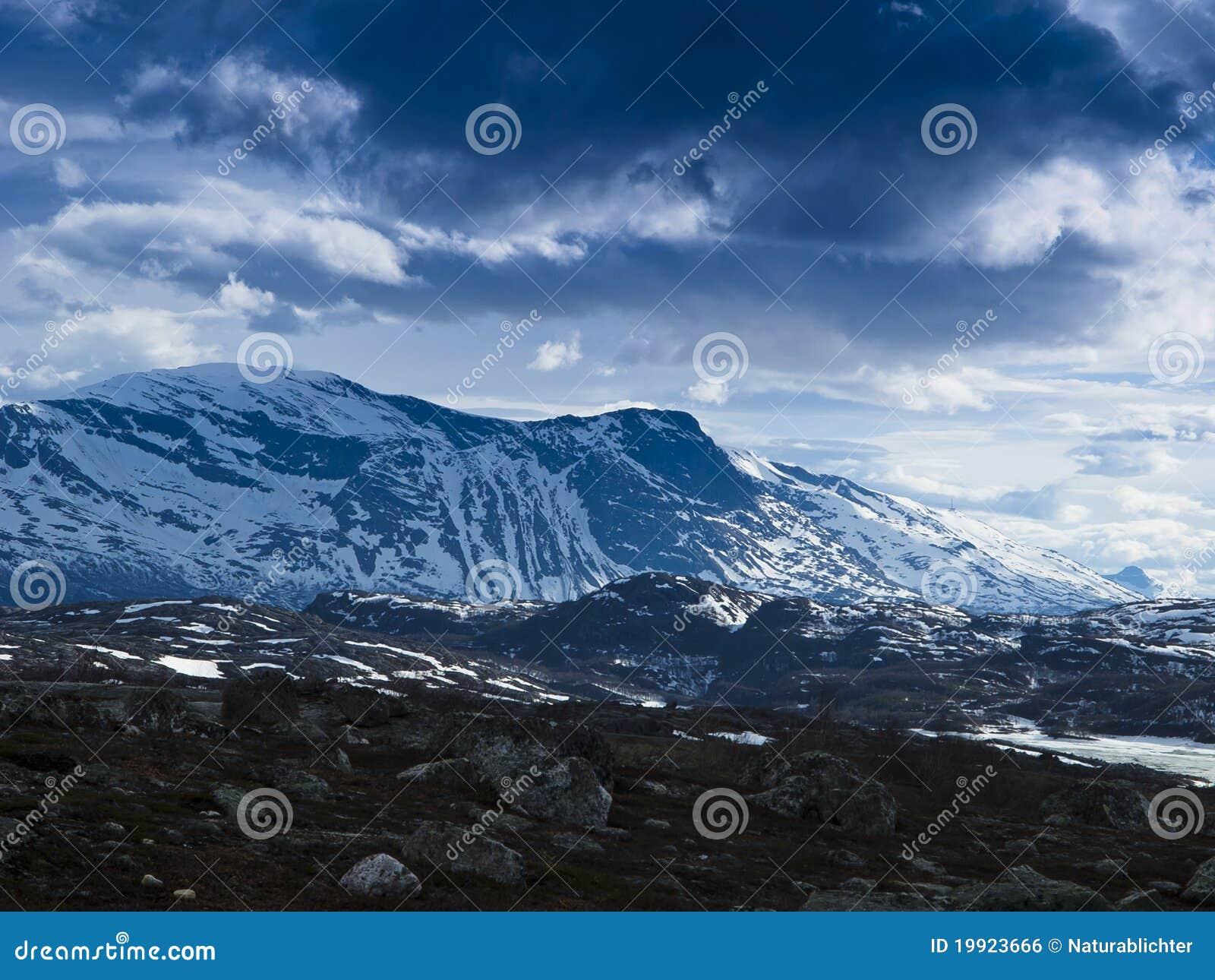 Snow mountainous landscape