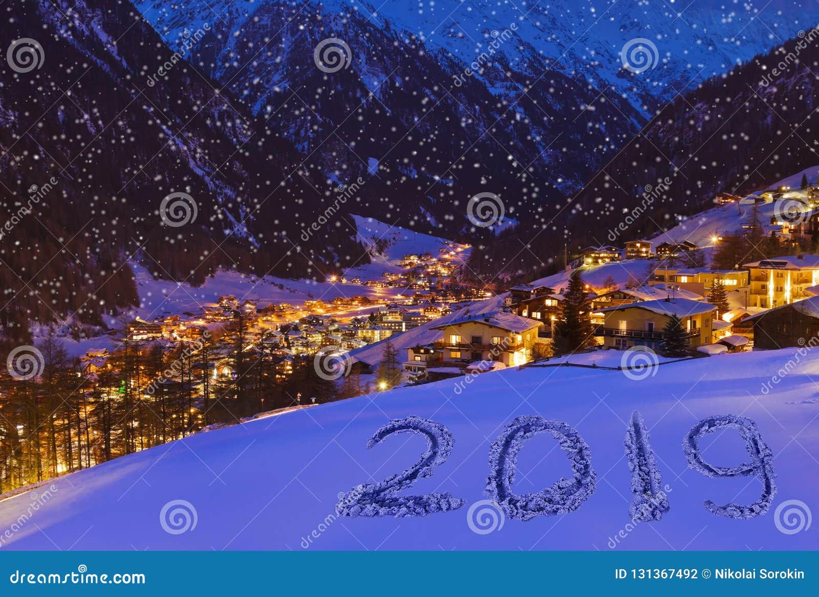 Christmas In Austria 2019.2019 On Snow At Mountains Solden Austria Stock Photo