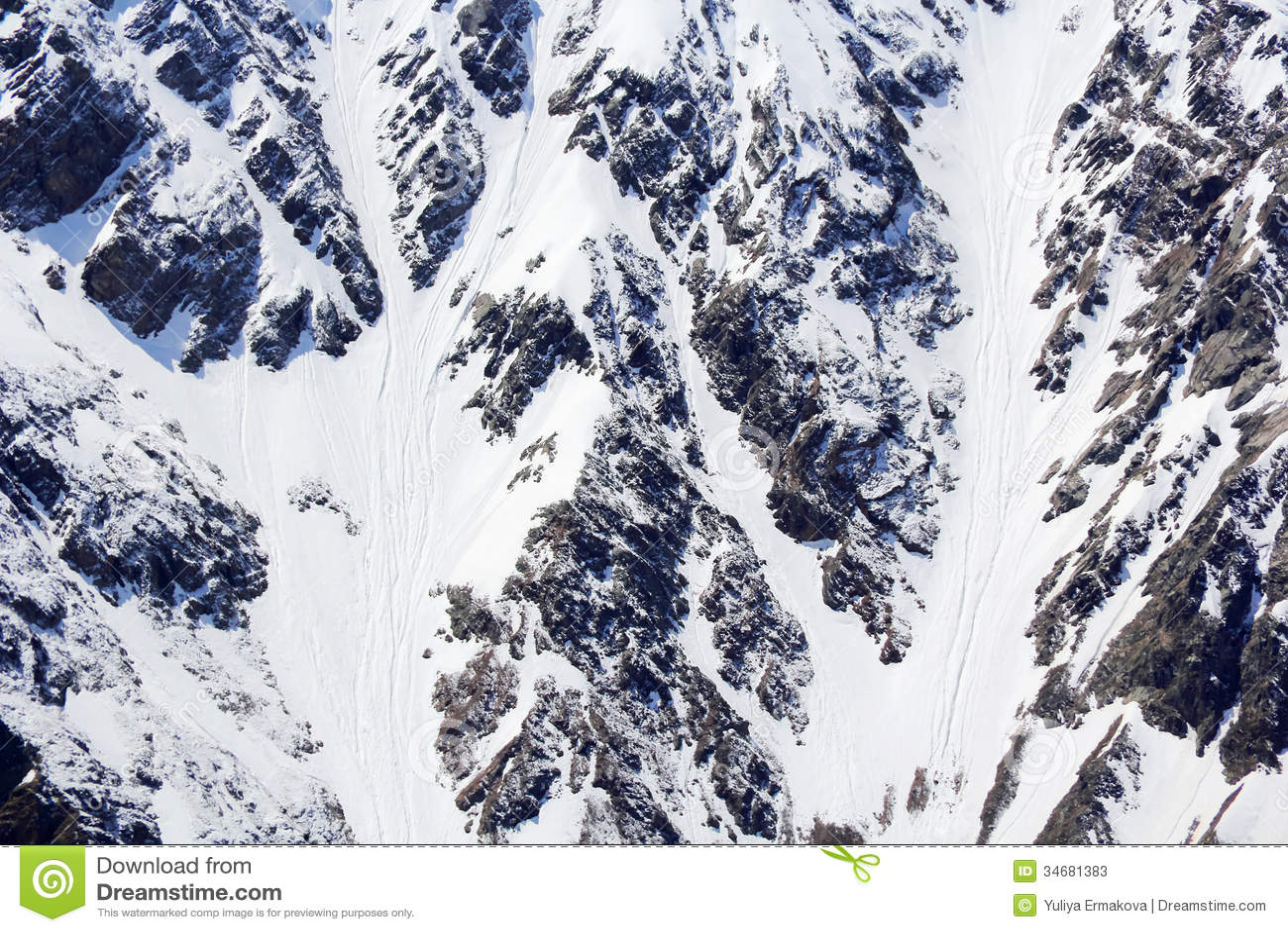 Snow mountains texture
