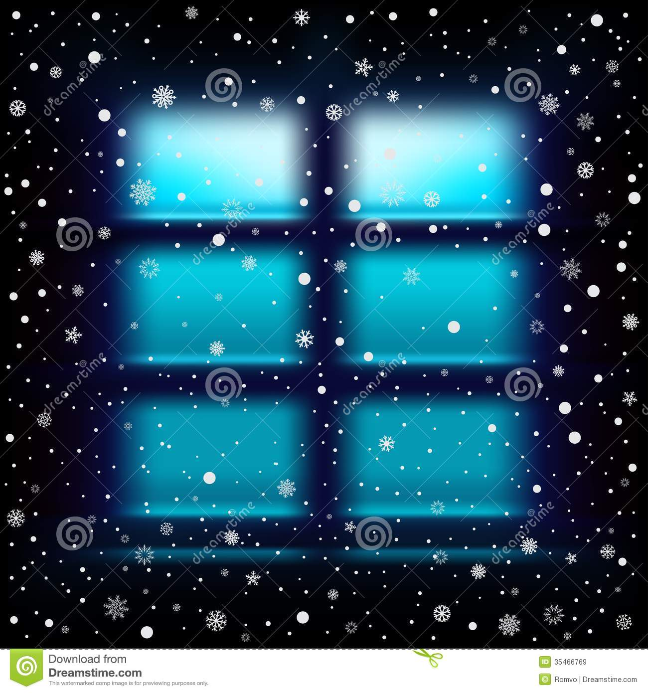 snow night large window royalty free stock images