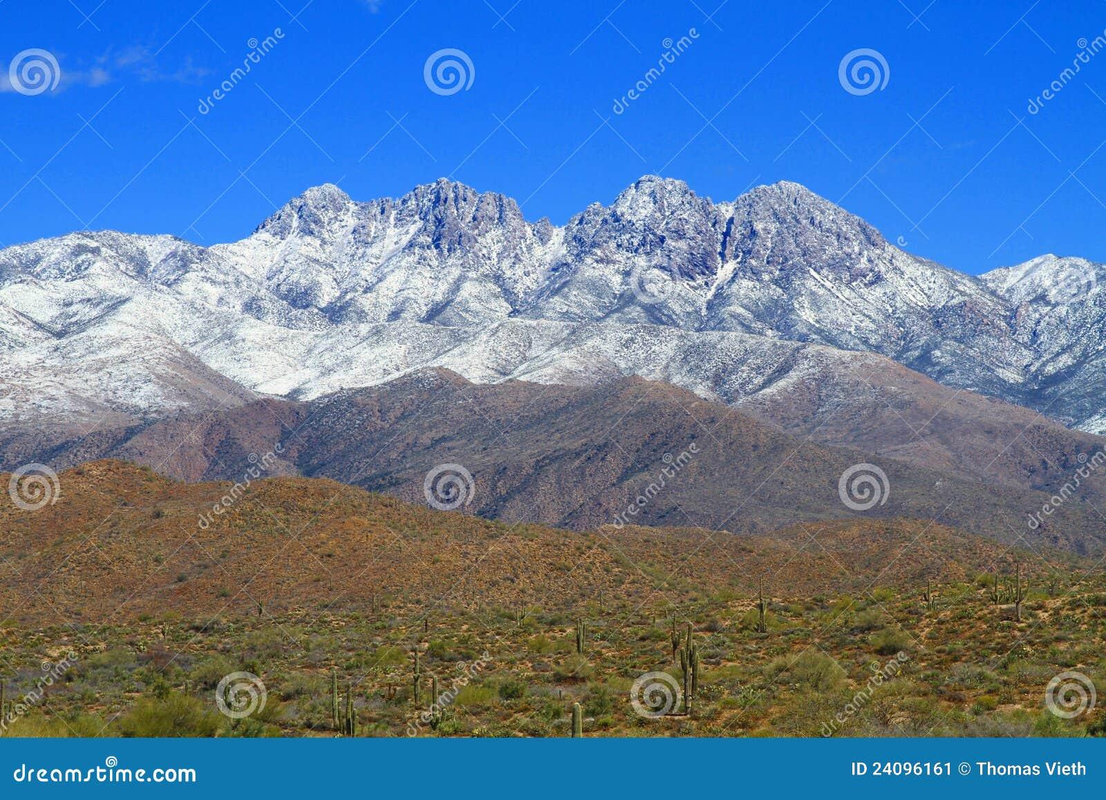 Snow på ökenberg