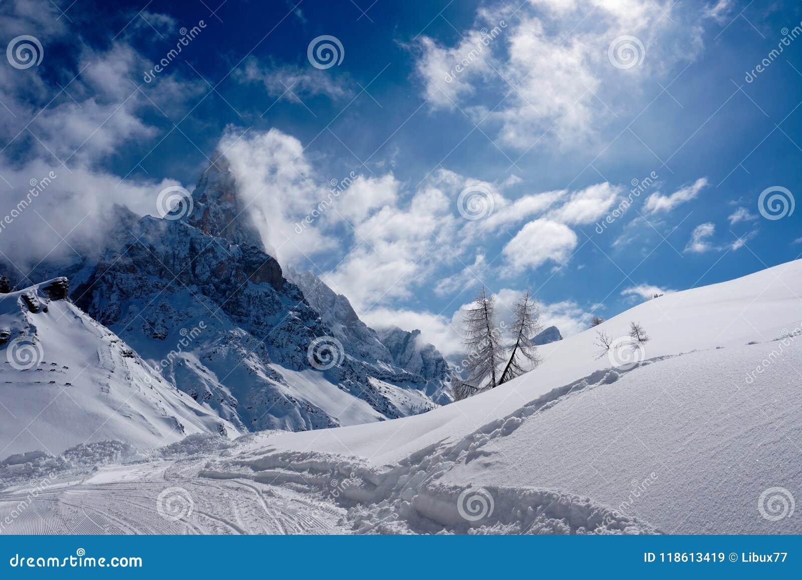 Snow Peak Mountain Landscape sun winter