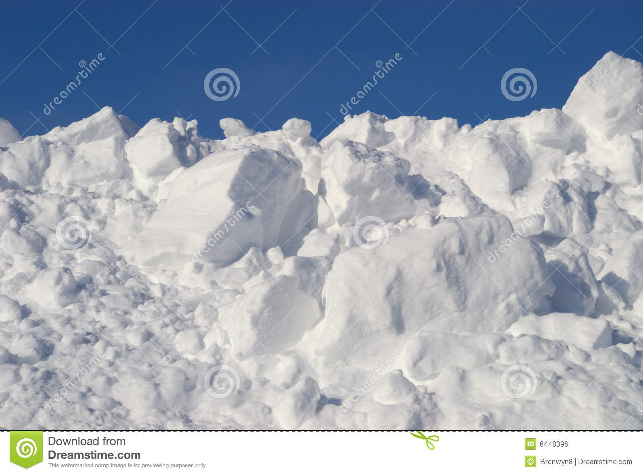 Snow Pile Royalty Free Stock Image - Image: 6448396