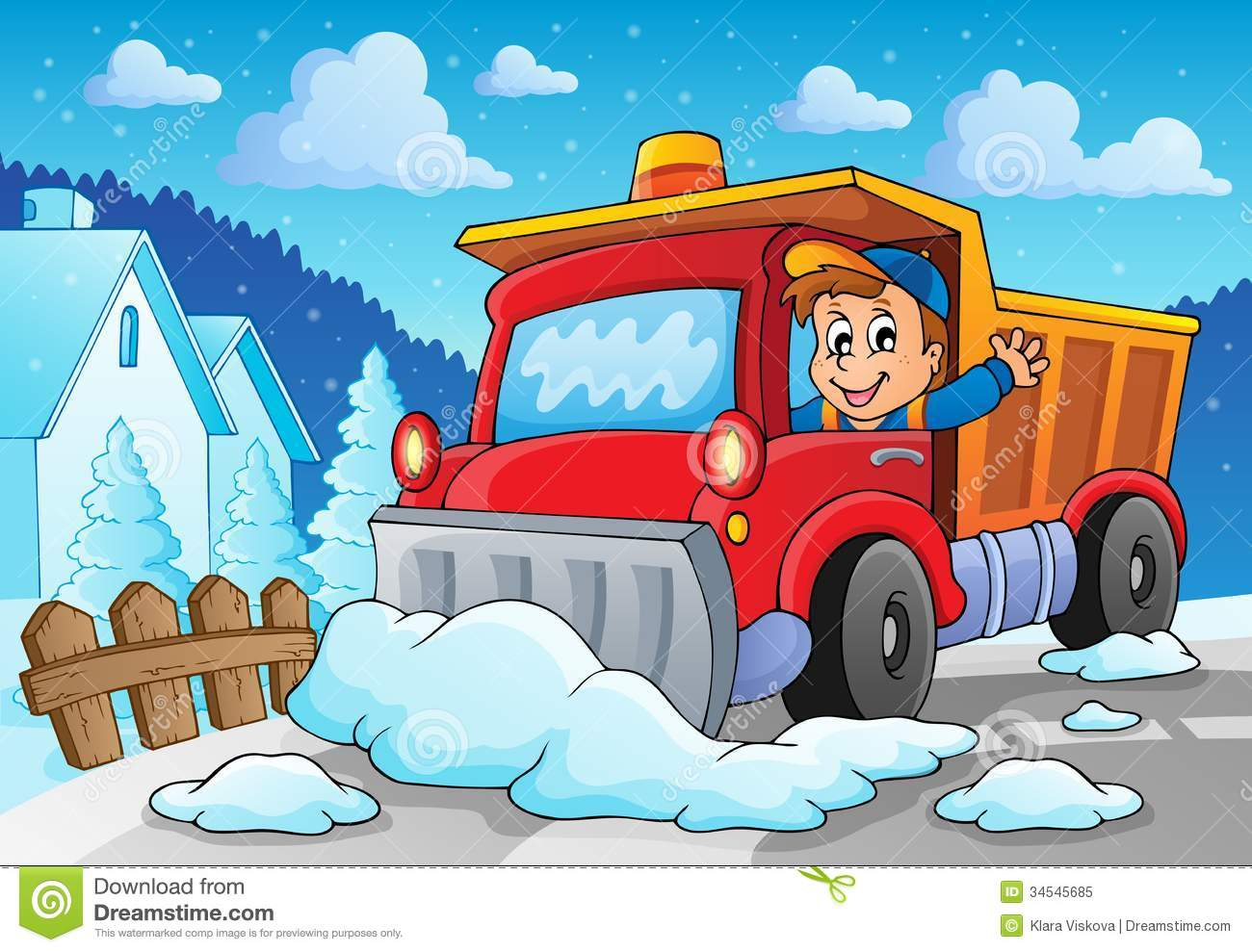 Snow Plough Car >> Snow Plough Theme Image 2 Royalty Free Stock Photo - Image: 34545685