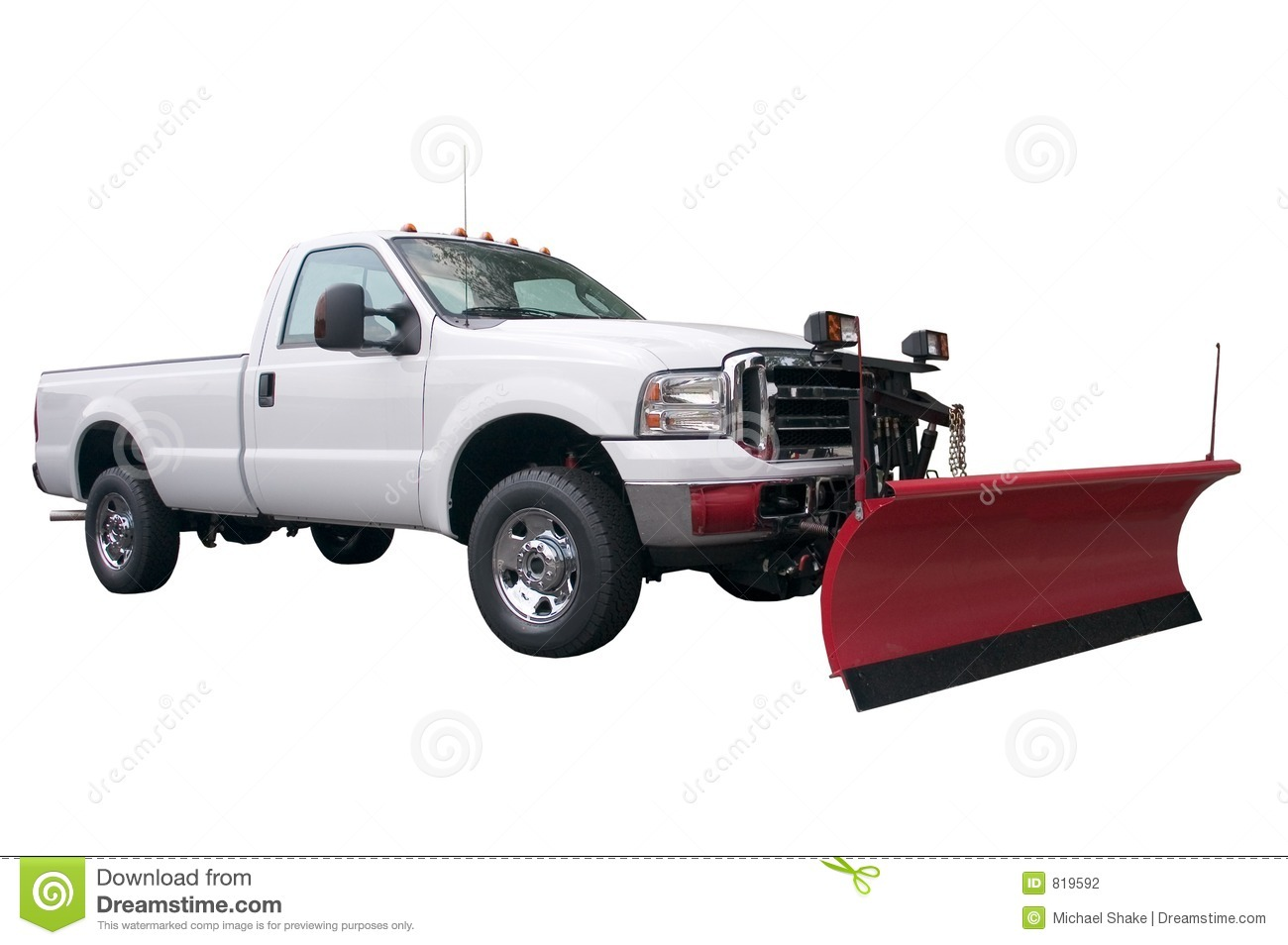 brand new snow plow truck isolated on a white background.More of my ...