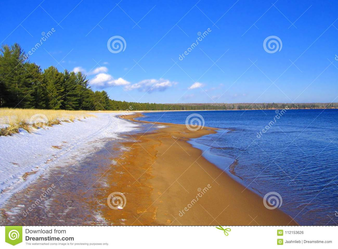 Snow, Sand, and Water, Big Bay State Park, Madeline Island, Apostle Islands, Wisconsin