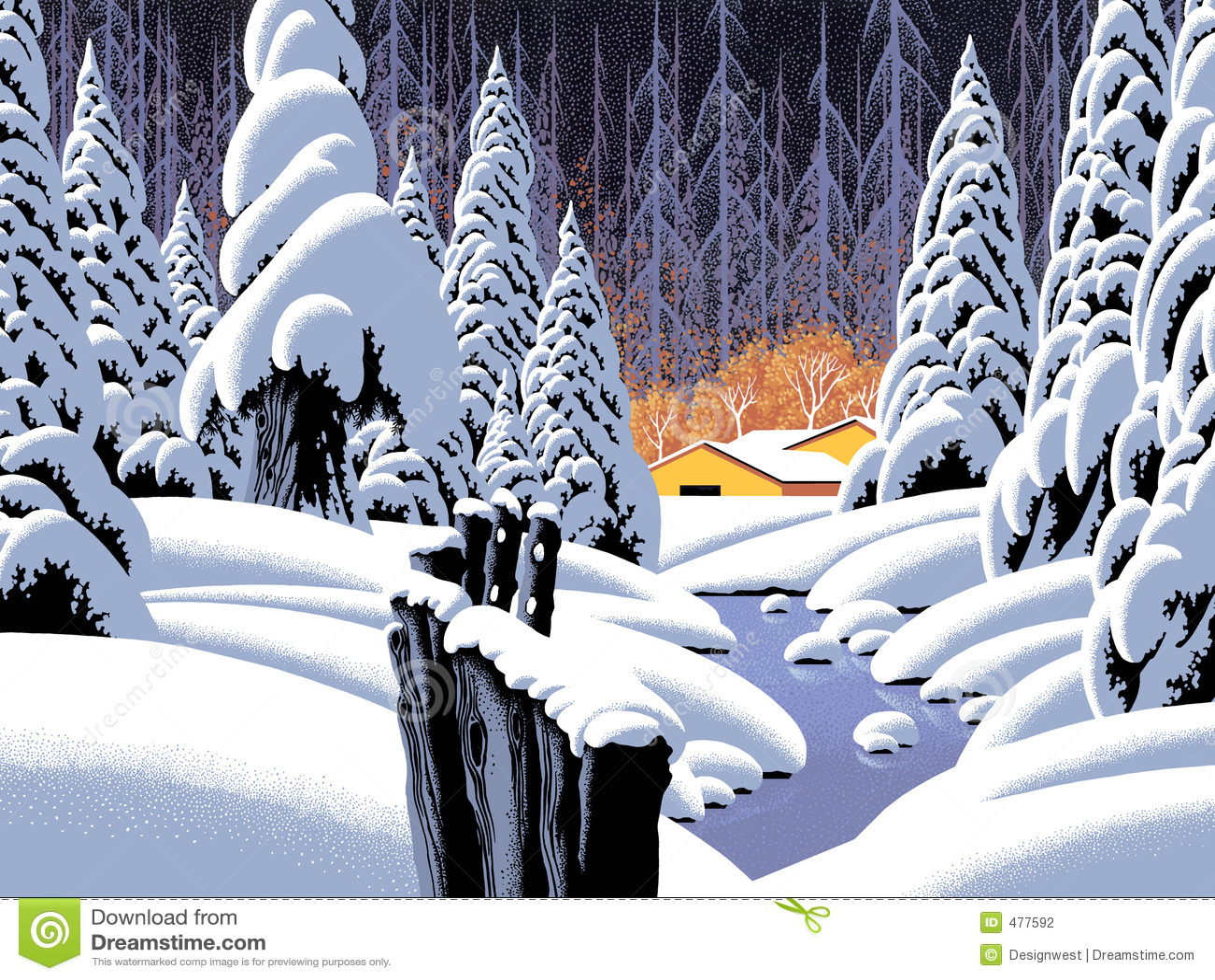 clipart snow scene - photo #38
