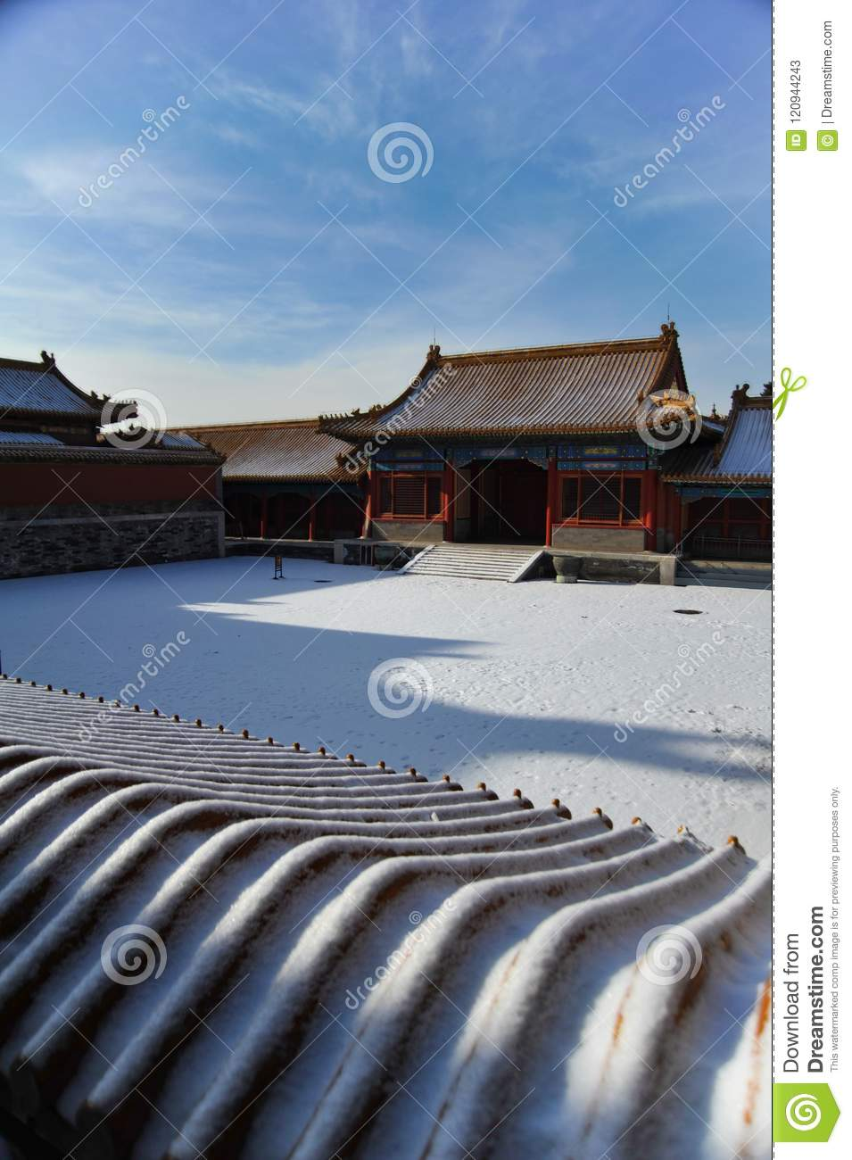 The snow scenery of the the Imperial Palace(The Forbidden City ) in Beijing,China