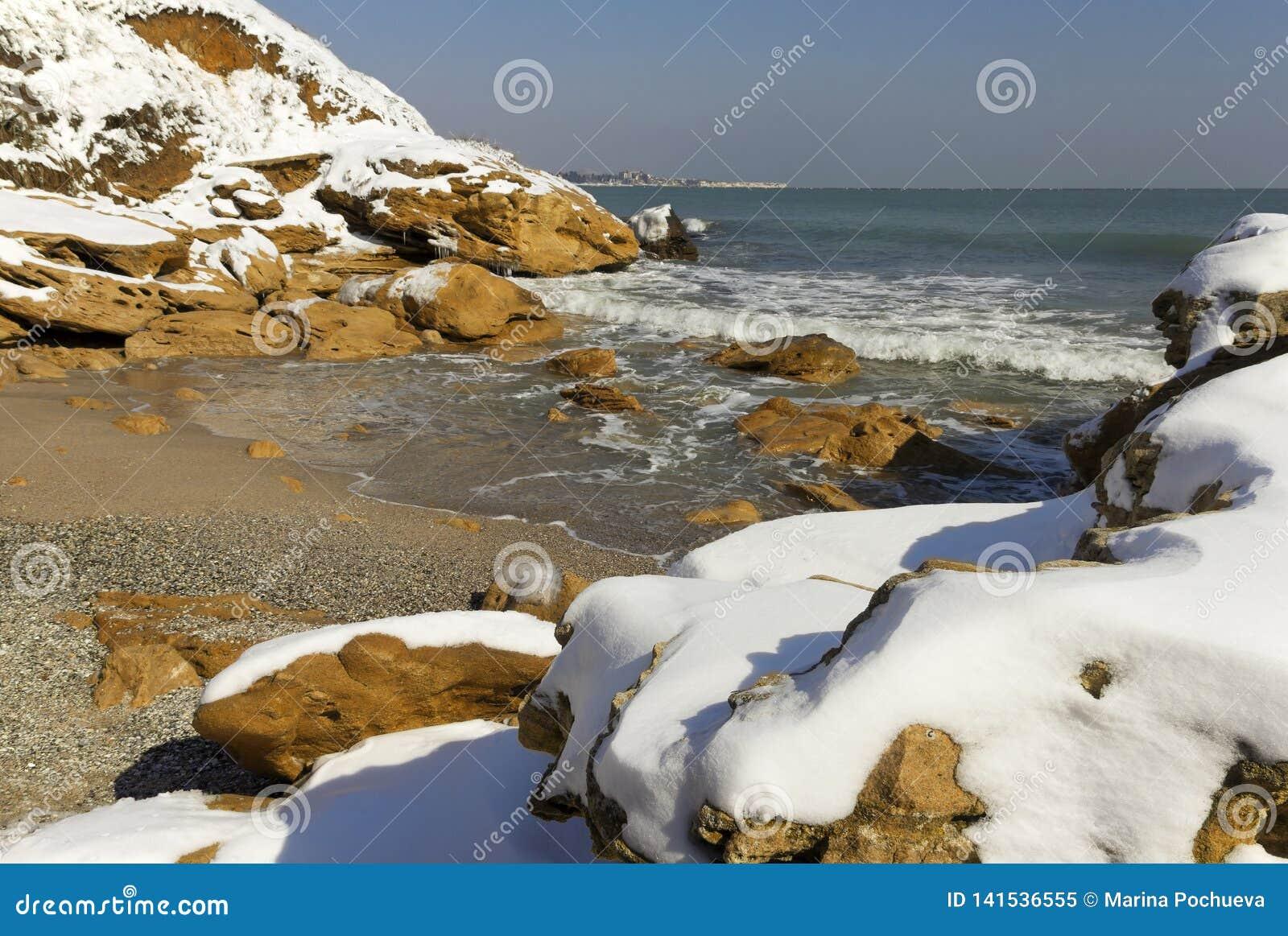 Snow on the sea
