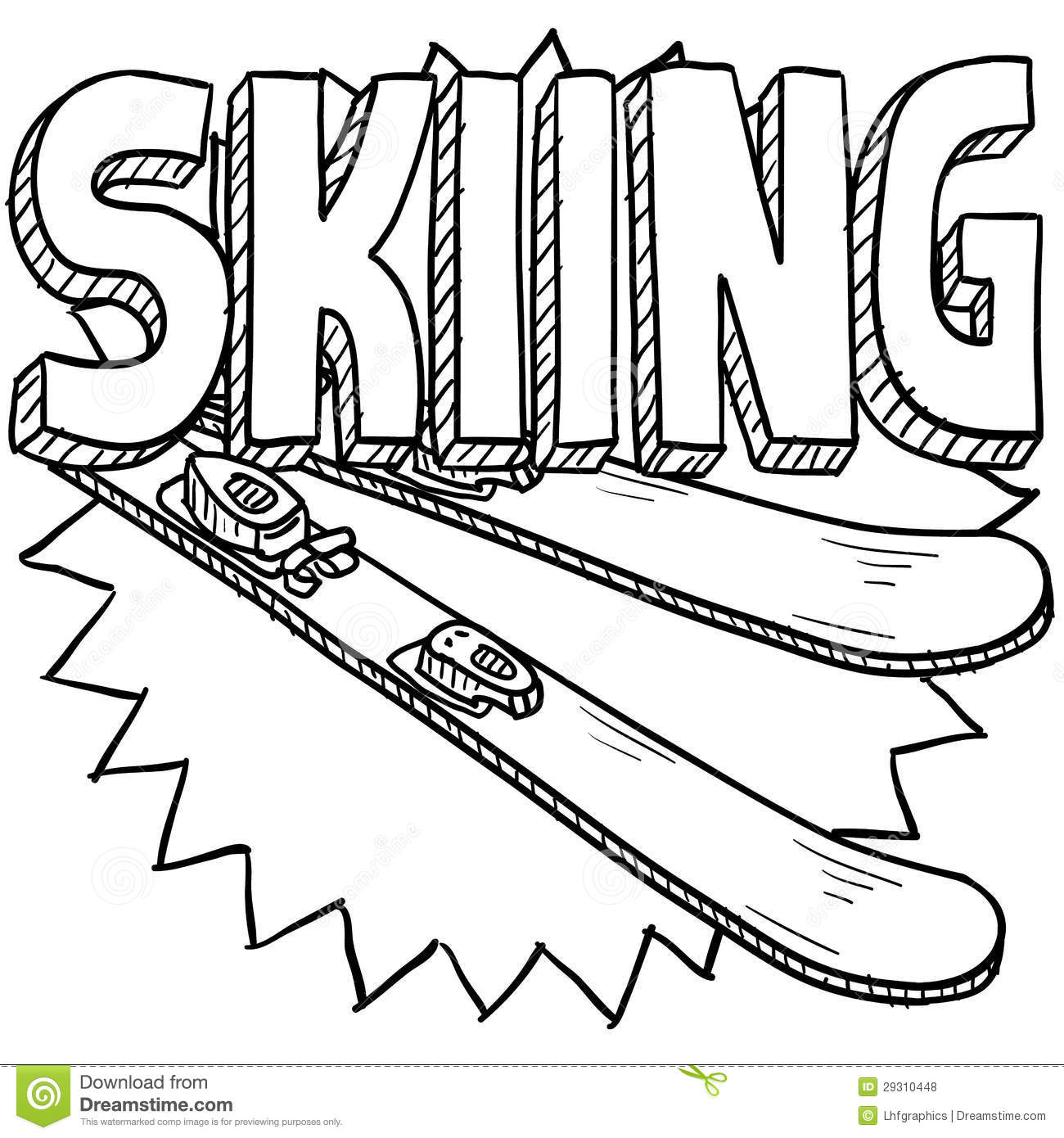 cross country skiing coloring pages - photo#29