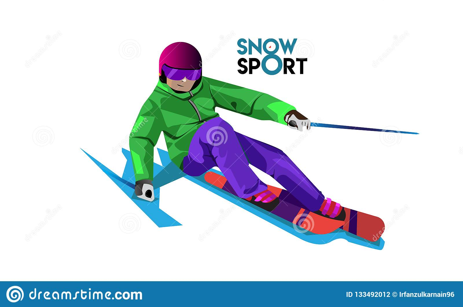 Snow sport logo ideas with vector