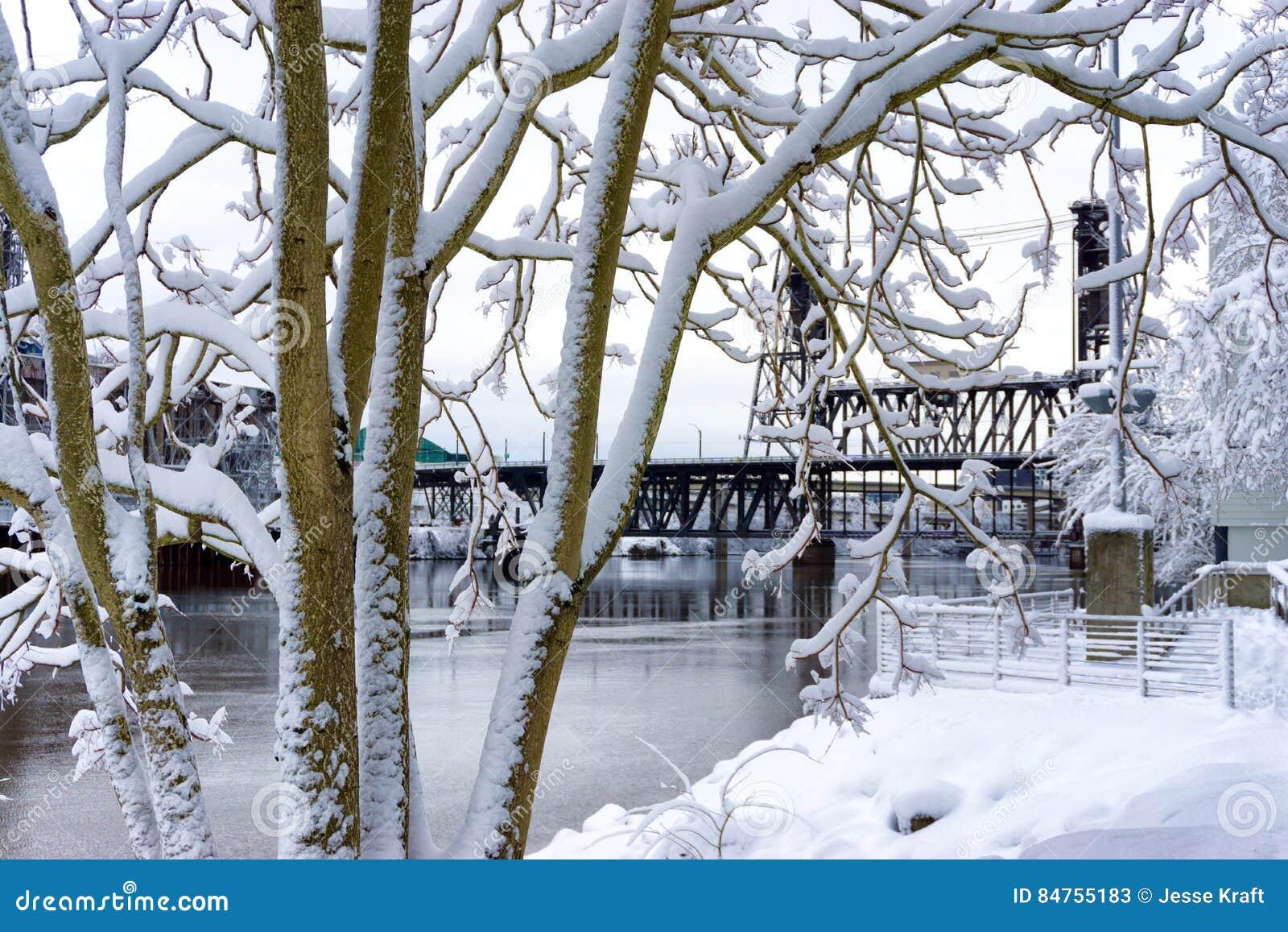 Snow and Steel Bridge