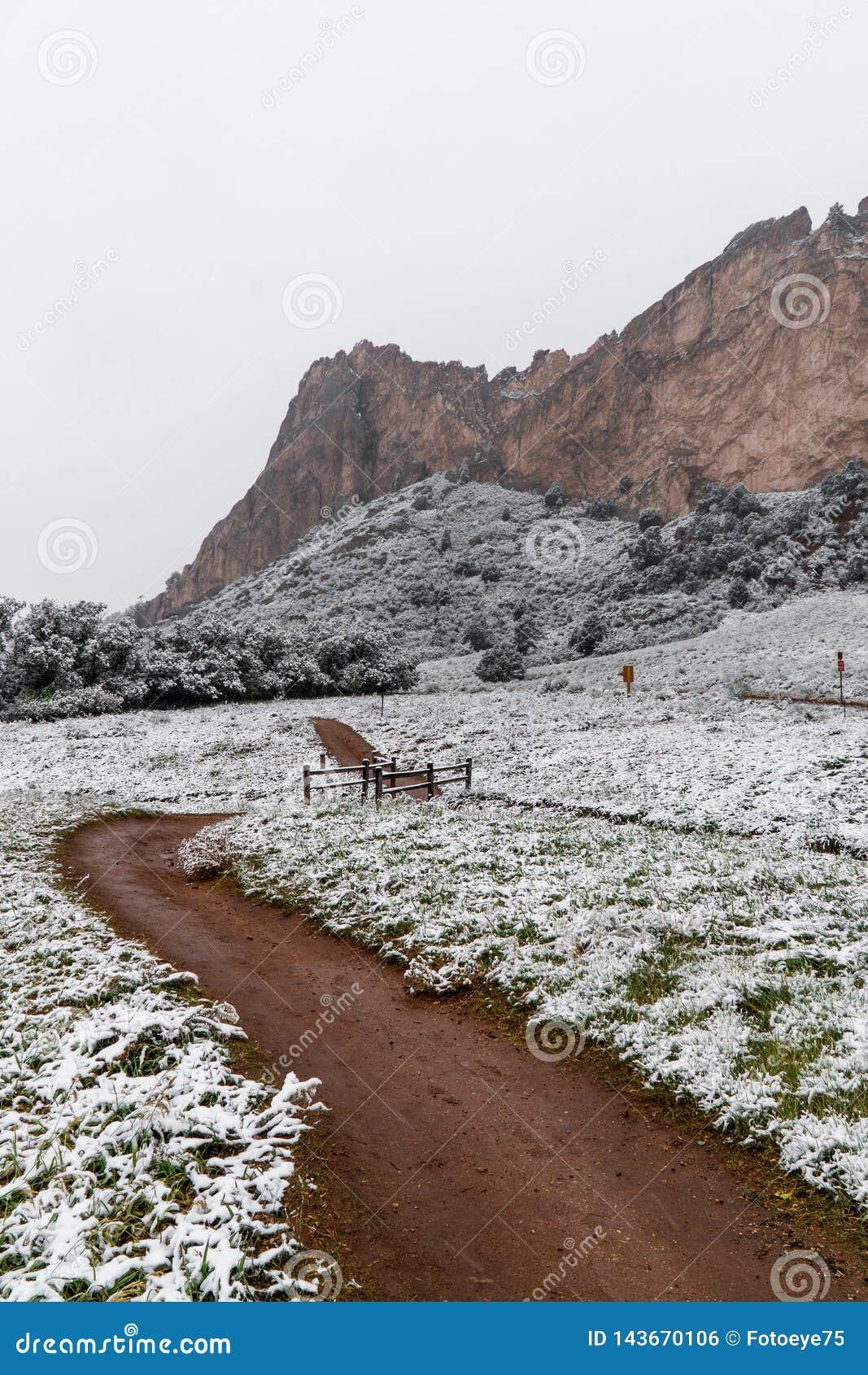 Blizzard At Garden Of The Gods Colorado Springs Rocky