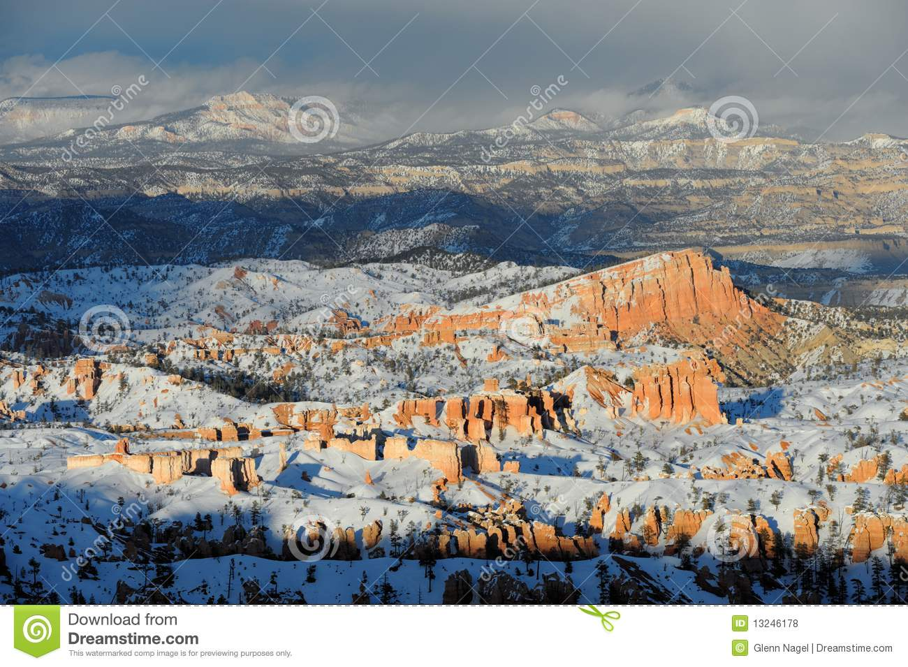 Snow storm over Bryce Canyon