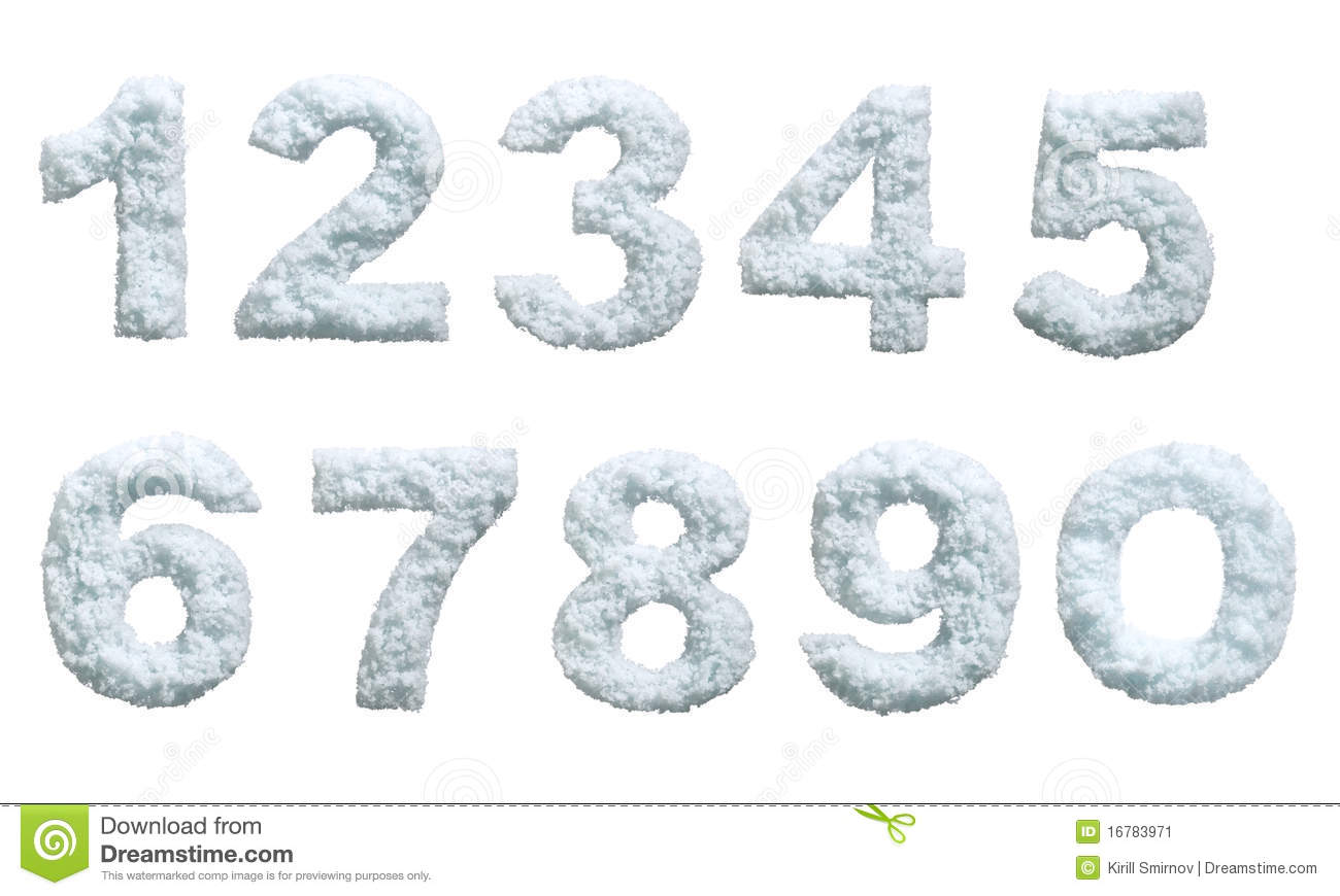 snow styled numbers stock image image 16783971 snowflakes clip art and dancers snowflake clipart transparent background