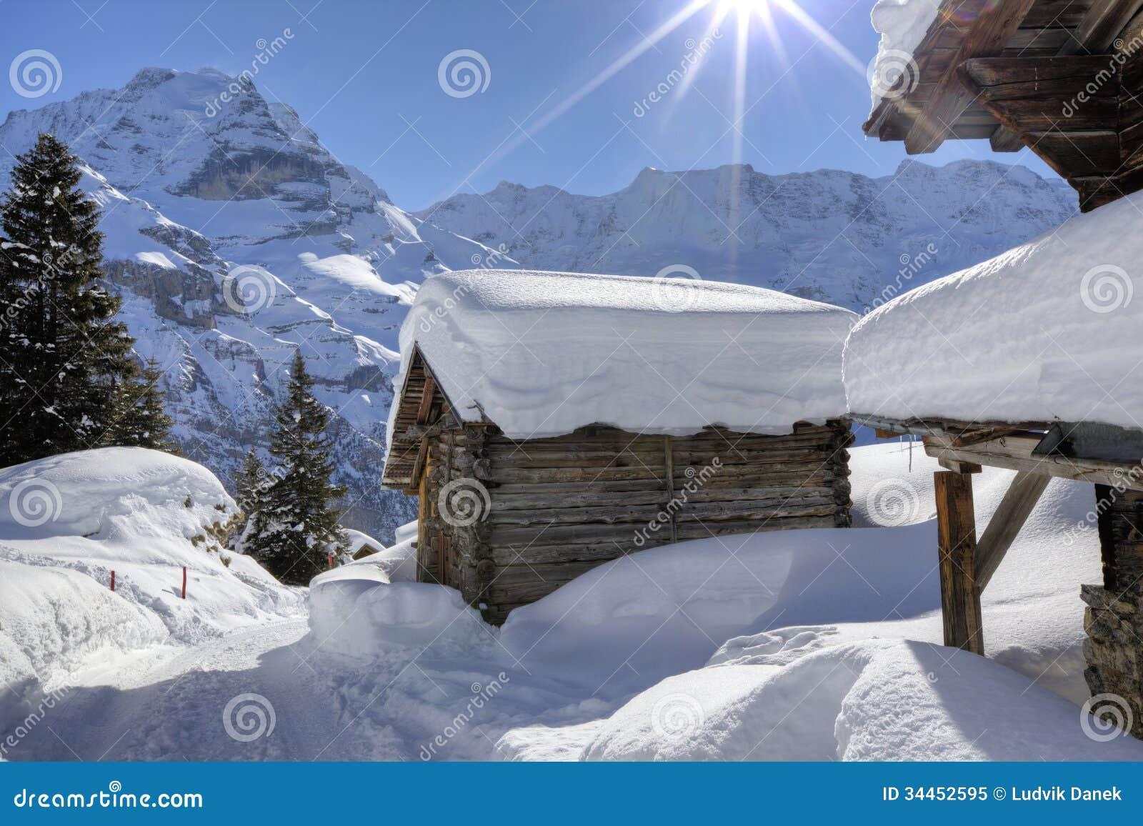 Snow in Swiss Alps