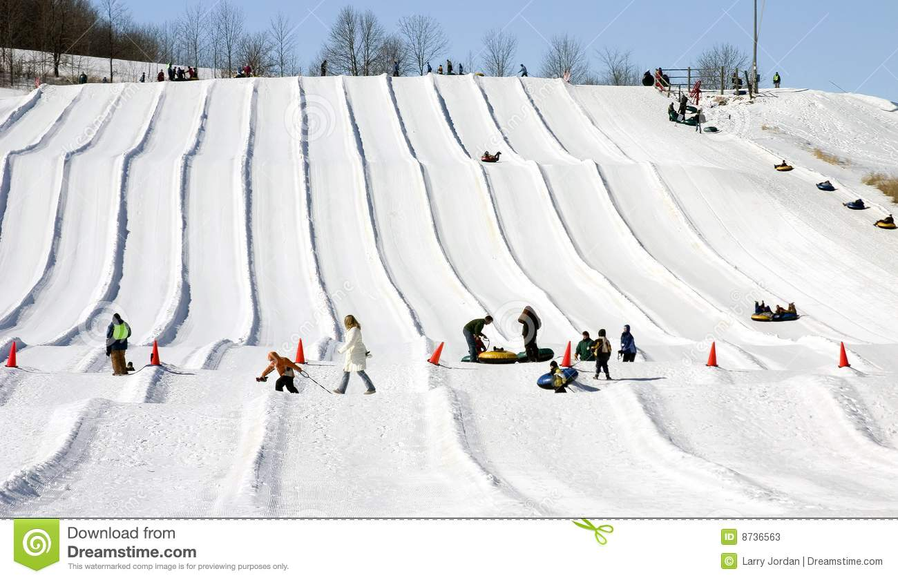 Snow-tubing Stock Photography - Image: 21909022