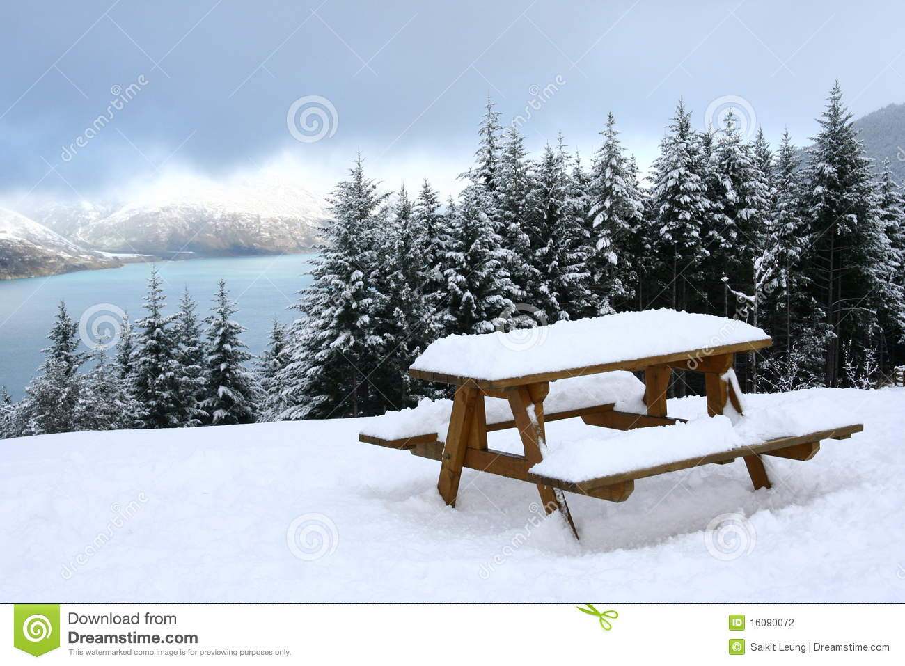 Snow View Of Queenstown New Zealand Stock Photography